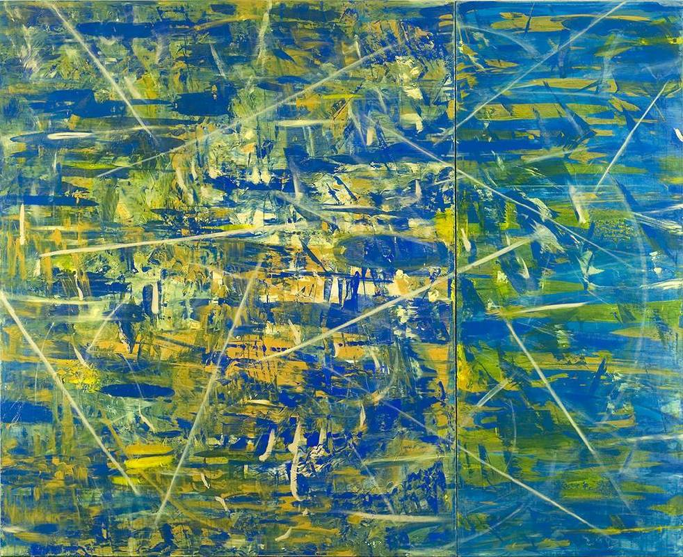 移動的邊緣/The Margins of Movement_壓克力顏料、畫布/Acrylic on Canvas_173x215 cm_2010