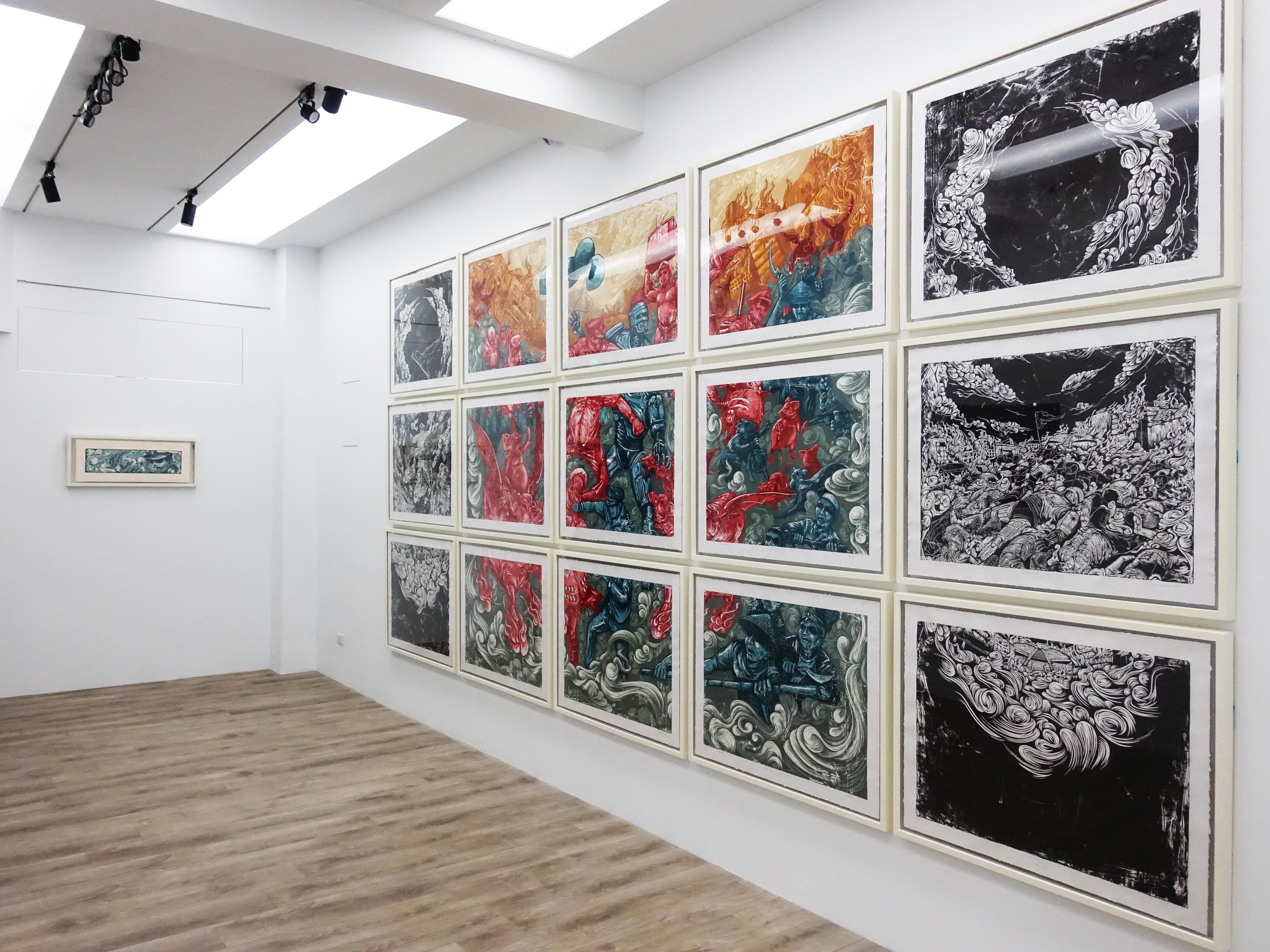 十方藝術空間展出印尼藝術家錫吉特・拉馬丹版畫作品。