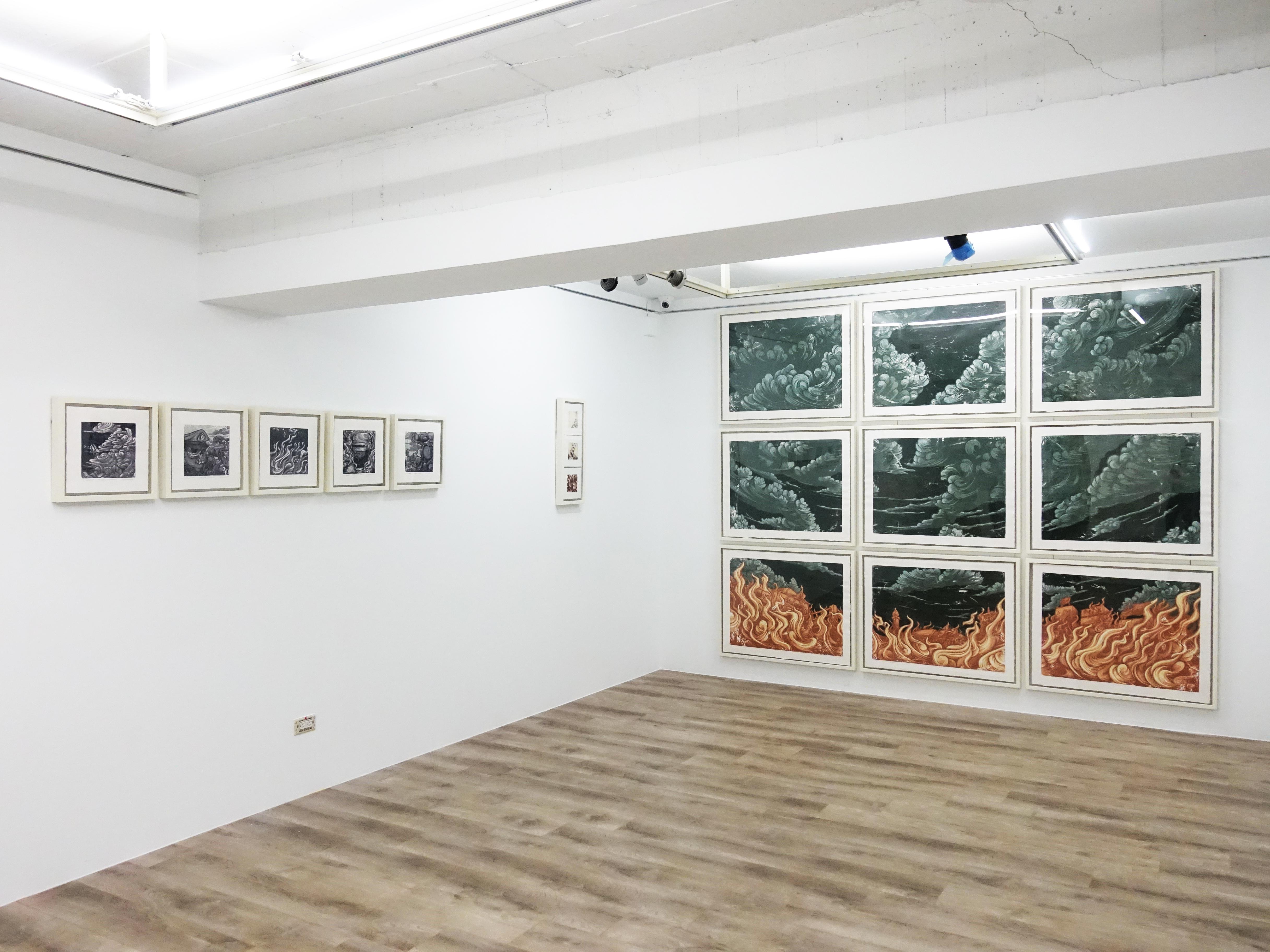 十方藝術空間展出印尼藝術家錫吉特・拉馬丹個展 「紅翼之牆」。