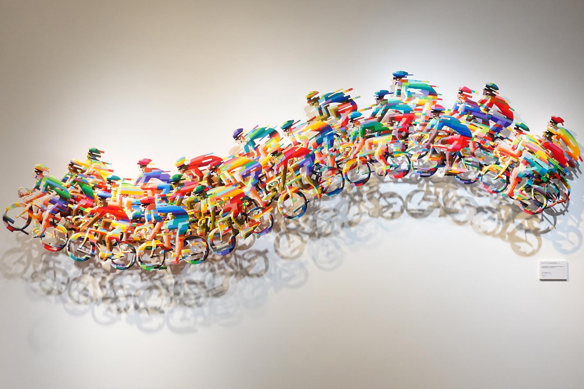 David Gerstein,《Peloton Wave》,328 x 75 x 16 cm,Steel鋁3層,2008。