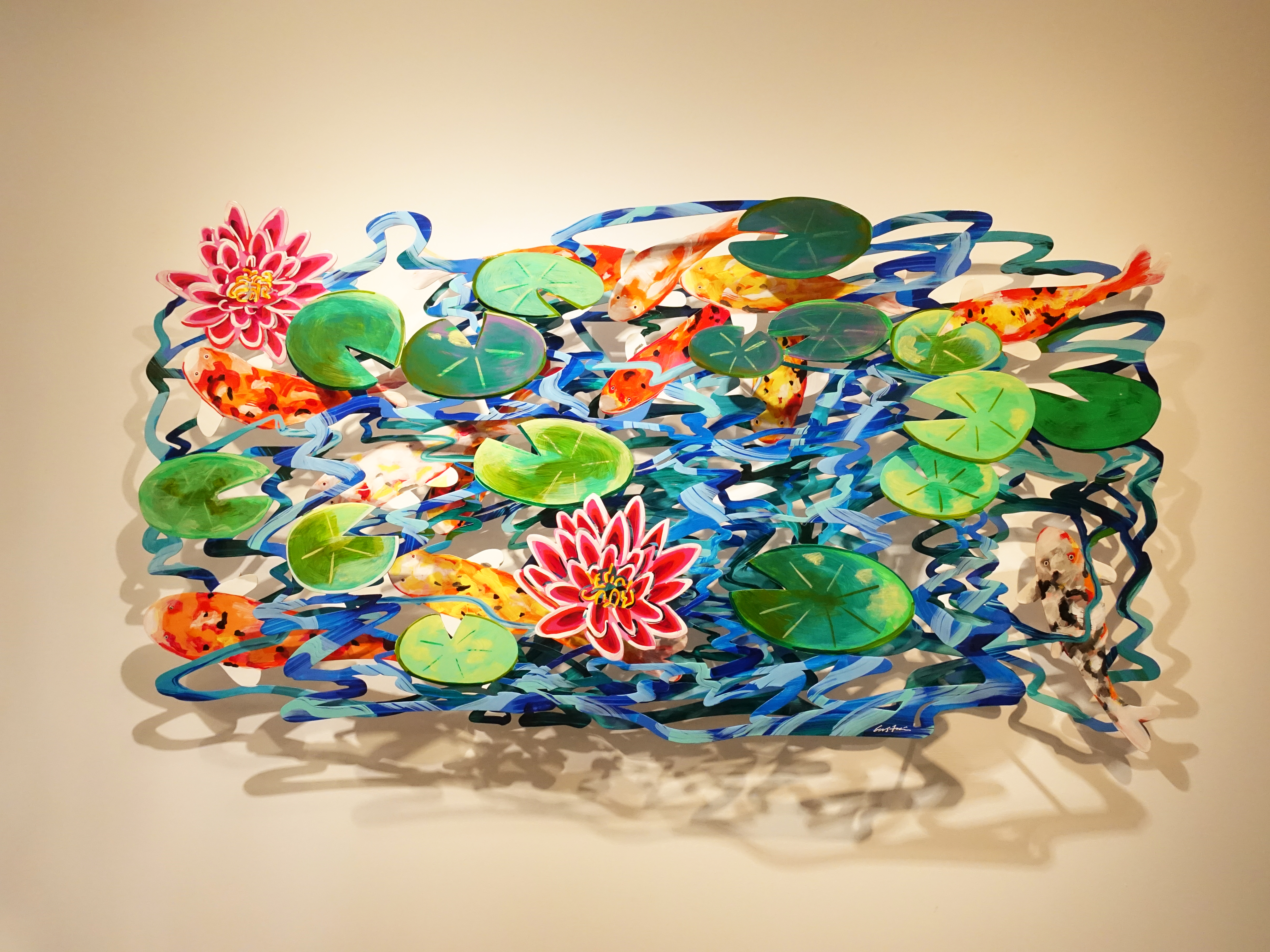 David Gerstein,《POND》,180 x 93 x 15 cm,Steel不鏽鋼3層,2008。