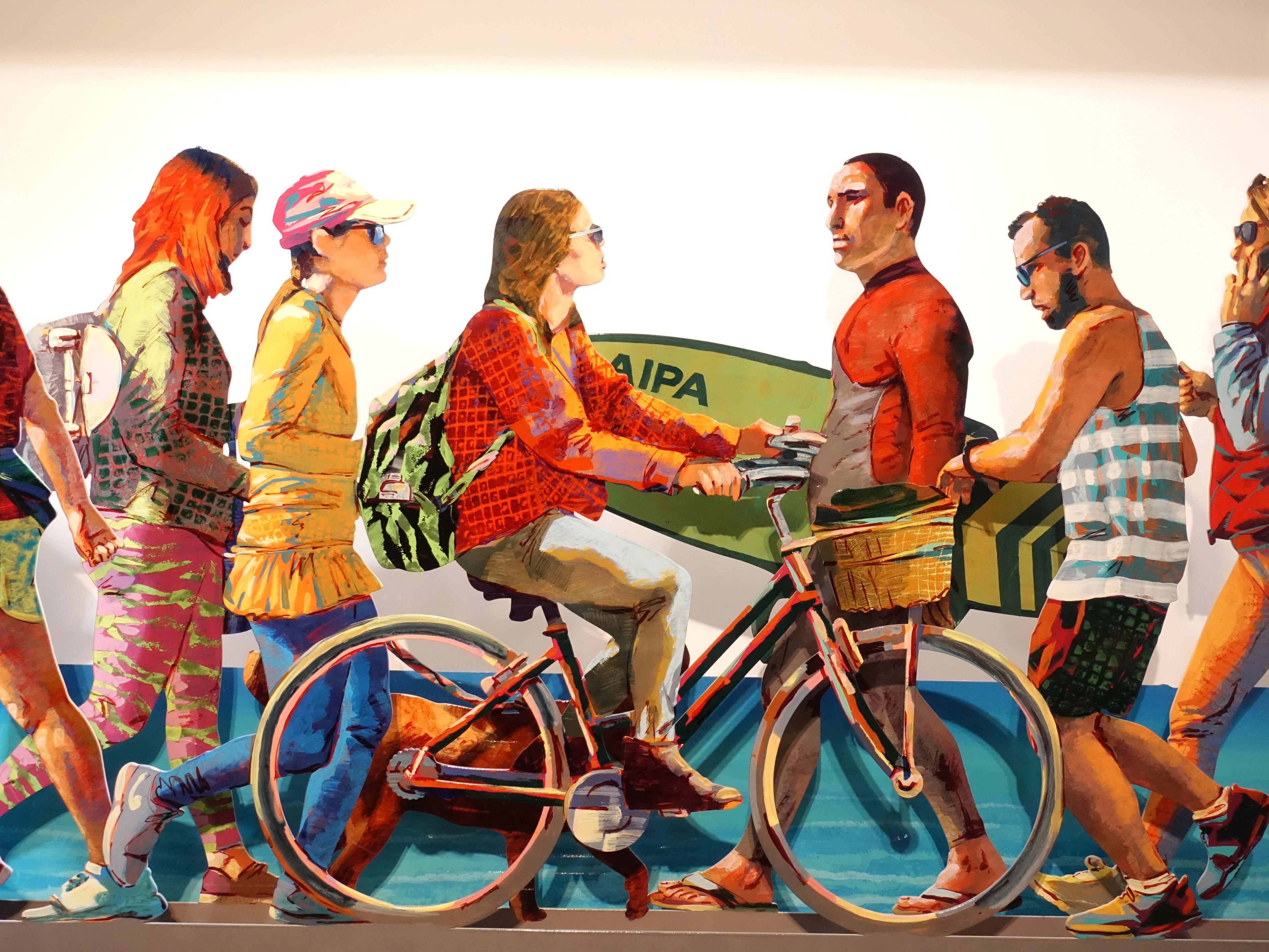 David Gerstein,《Tel Aviv Beach Promenade》細節,165 x 68 x 15 cm,Aluminum鋁3層,2019。