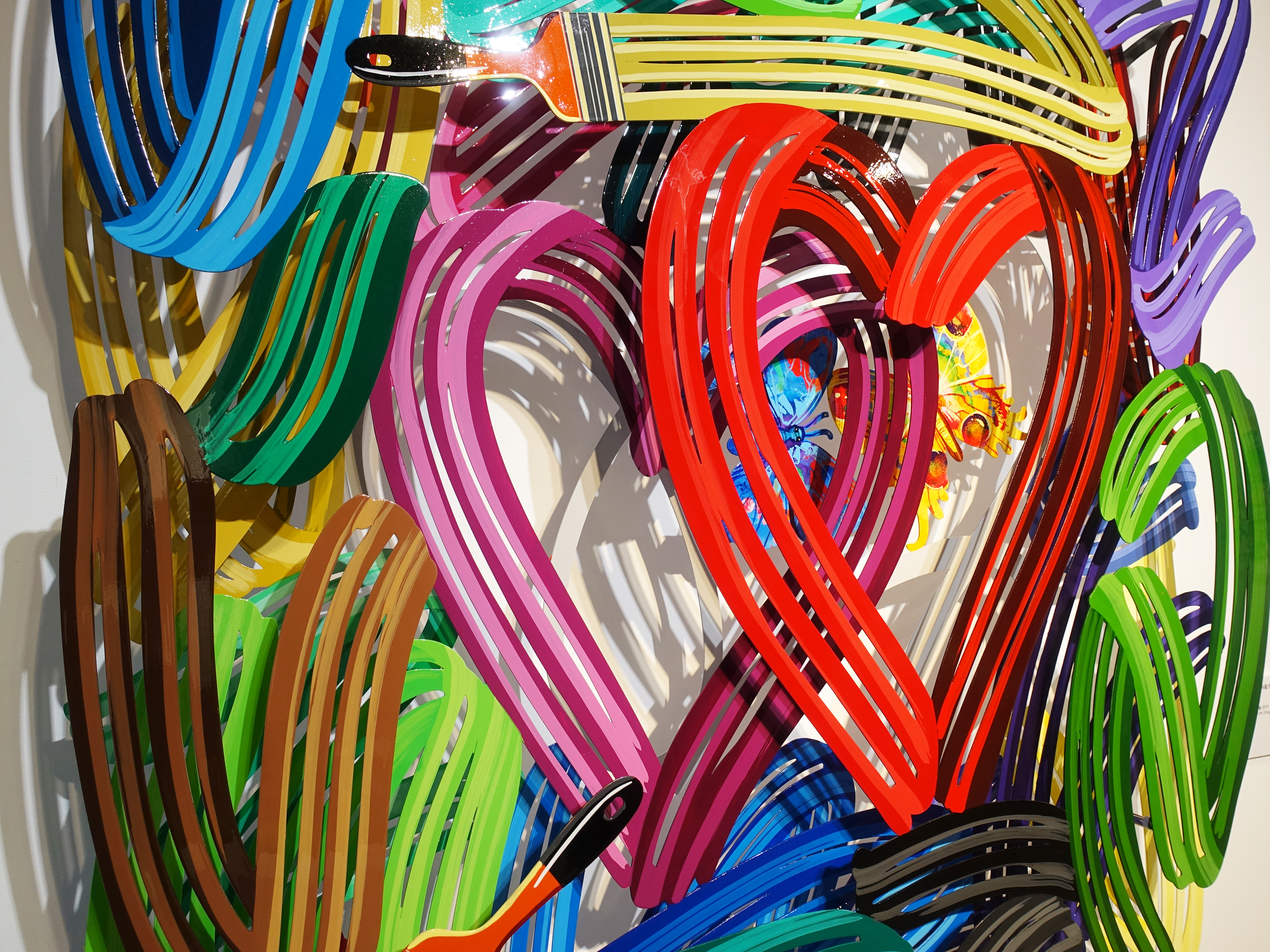 David Gerstein,《Honeymoon》細節,110 x 110 x 16 cm,Aluminum鋁4層,2019。