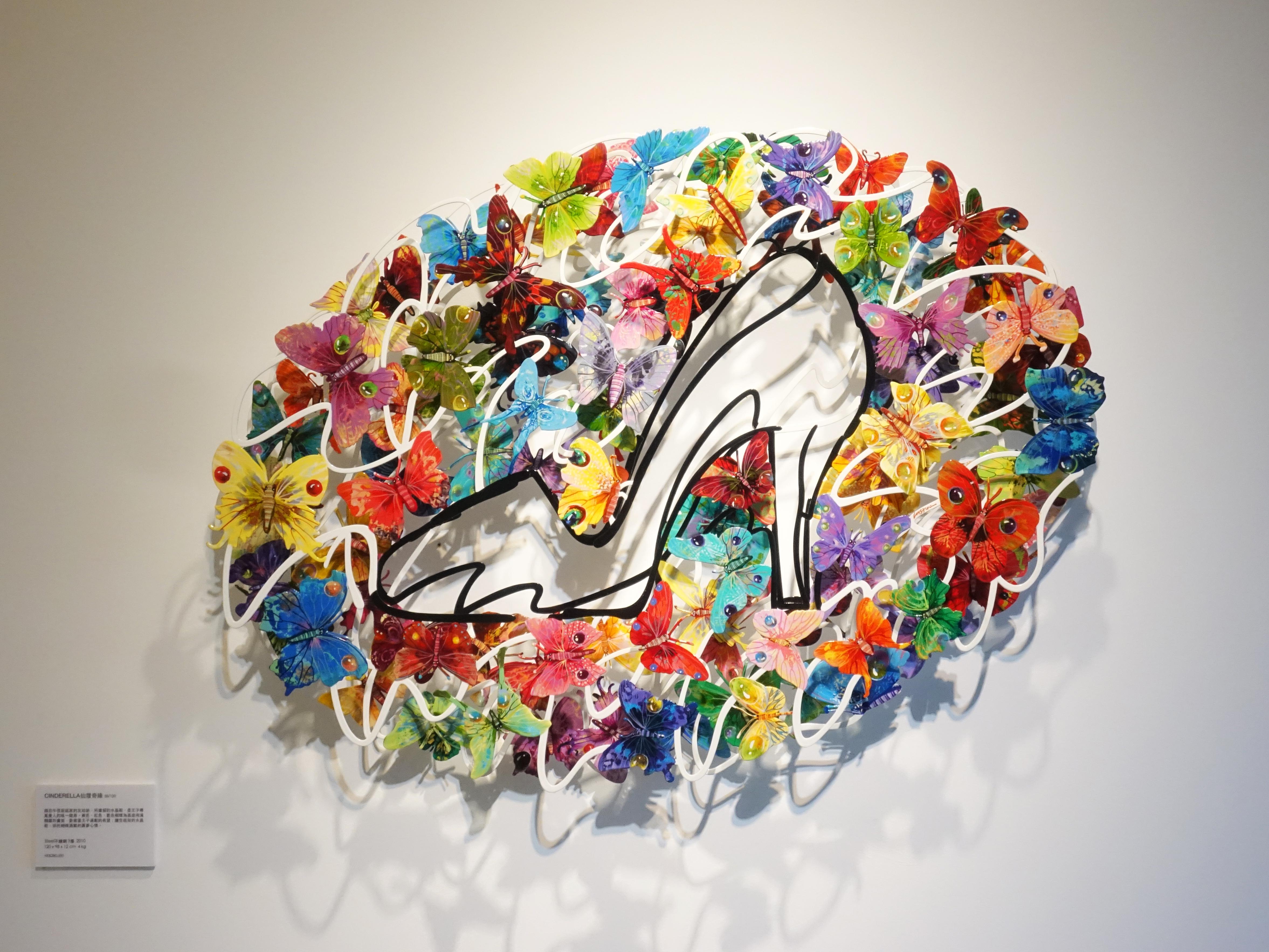 David Gerstein,《Cinderella》,120 x 98 x 12 cm,Steel不鏽鋼3層,2010。