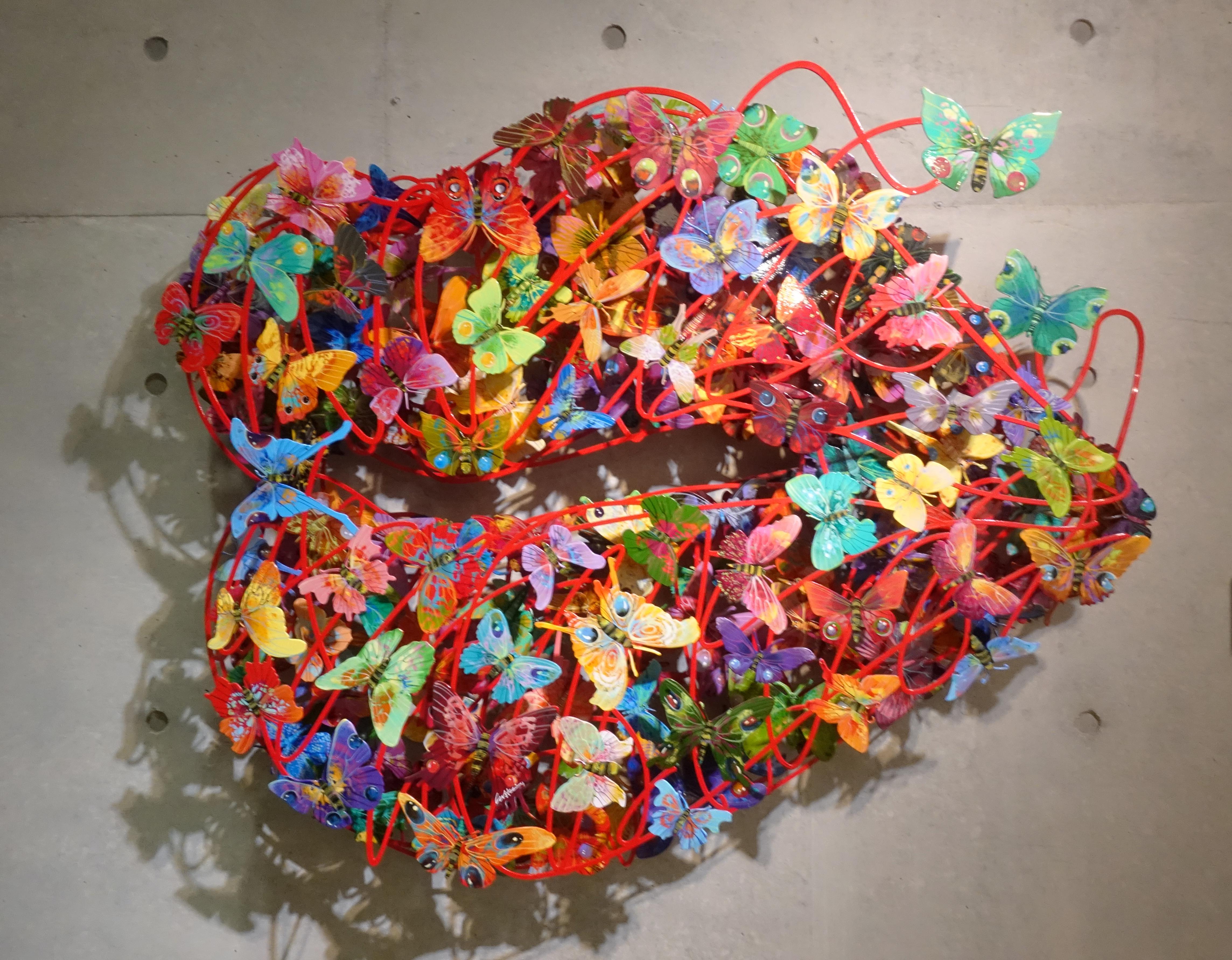 David Gerstein,《Burning Lips》,120 x 98 x 15 cm,Steel不鏽鋼3層,2010。