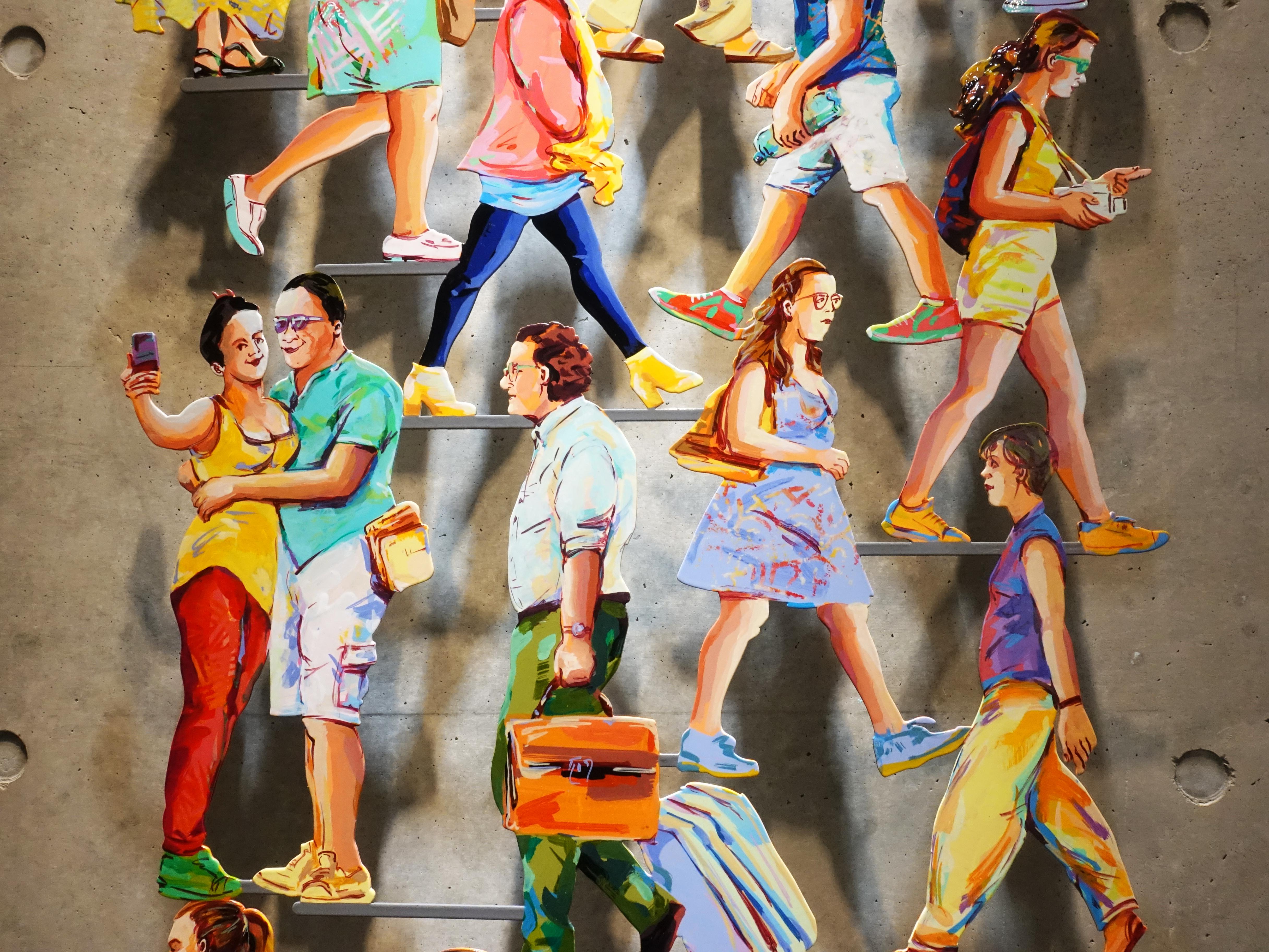 David Gerstein,《Street View》細節,64 x 180 x 5 cm,Aluminum鋁1層,2018。