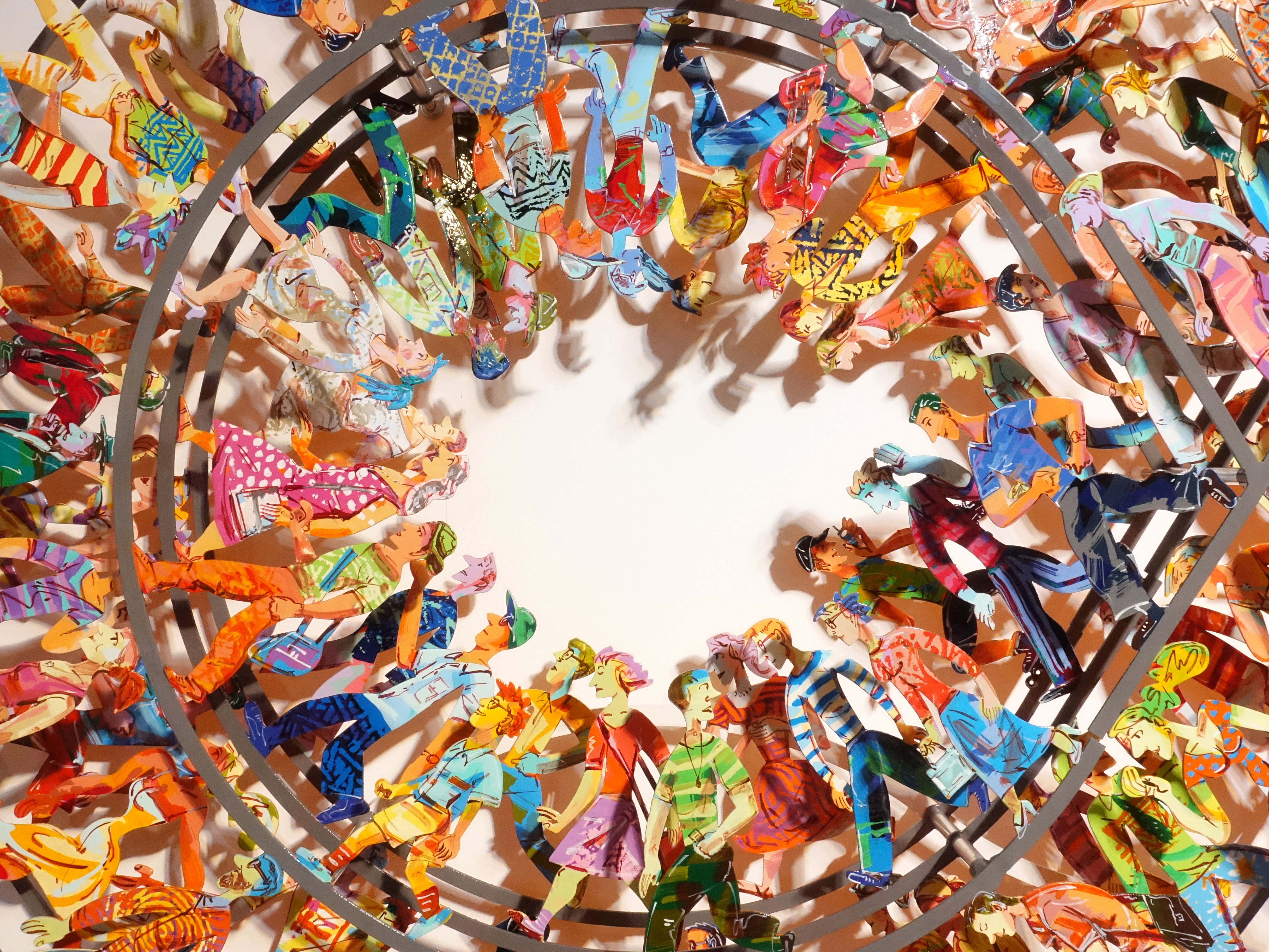 David Gerstein,《Endless Walk》細節,95 x 160 x 15 cm,Aluminum鋁3層,2010。