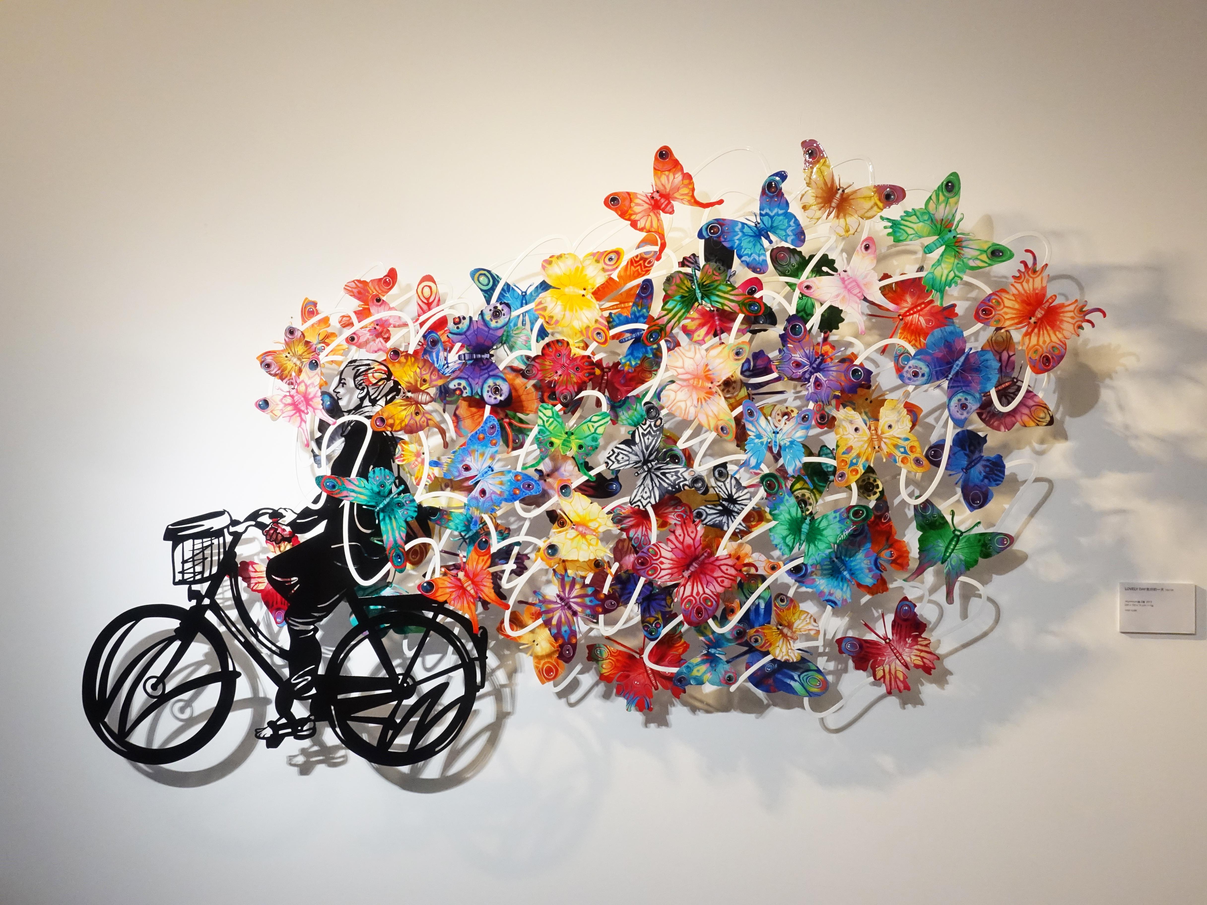 David Gerstein,《Lovely Day》,200 x 120 x 16 cm,Aluminum鋁3層,2015。
