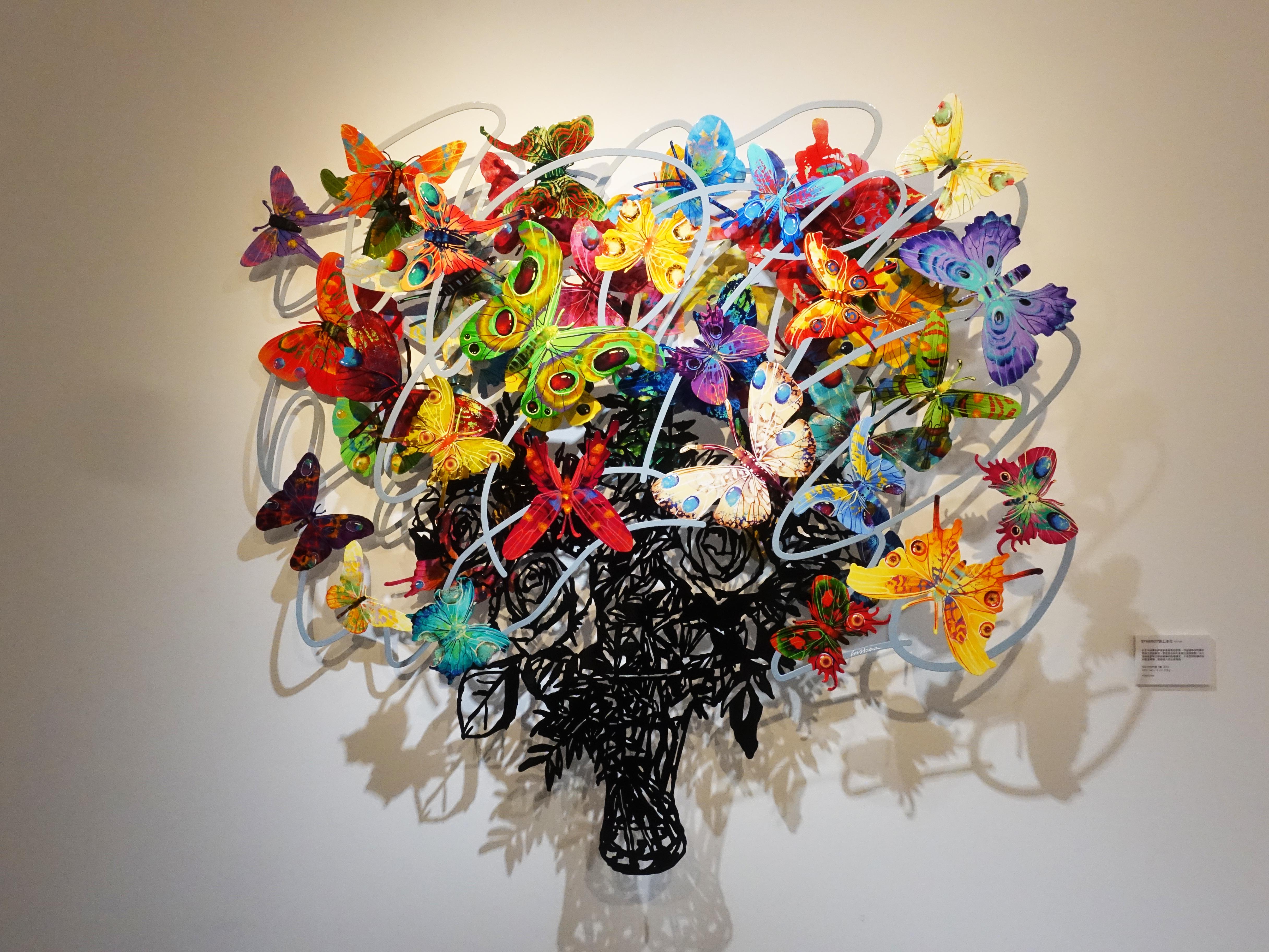 David Gerstein,《Synergy》,160 x 146 x 14 cm,Steel鋁3層,2013。