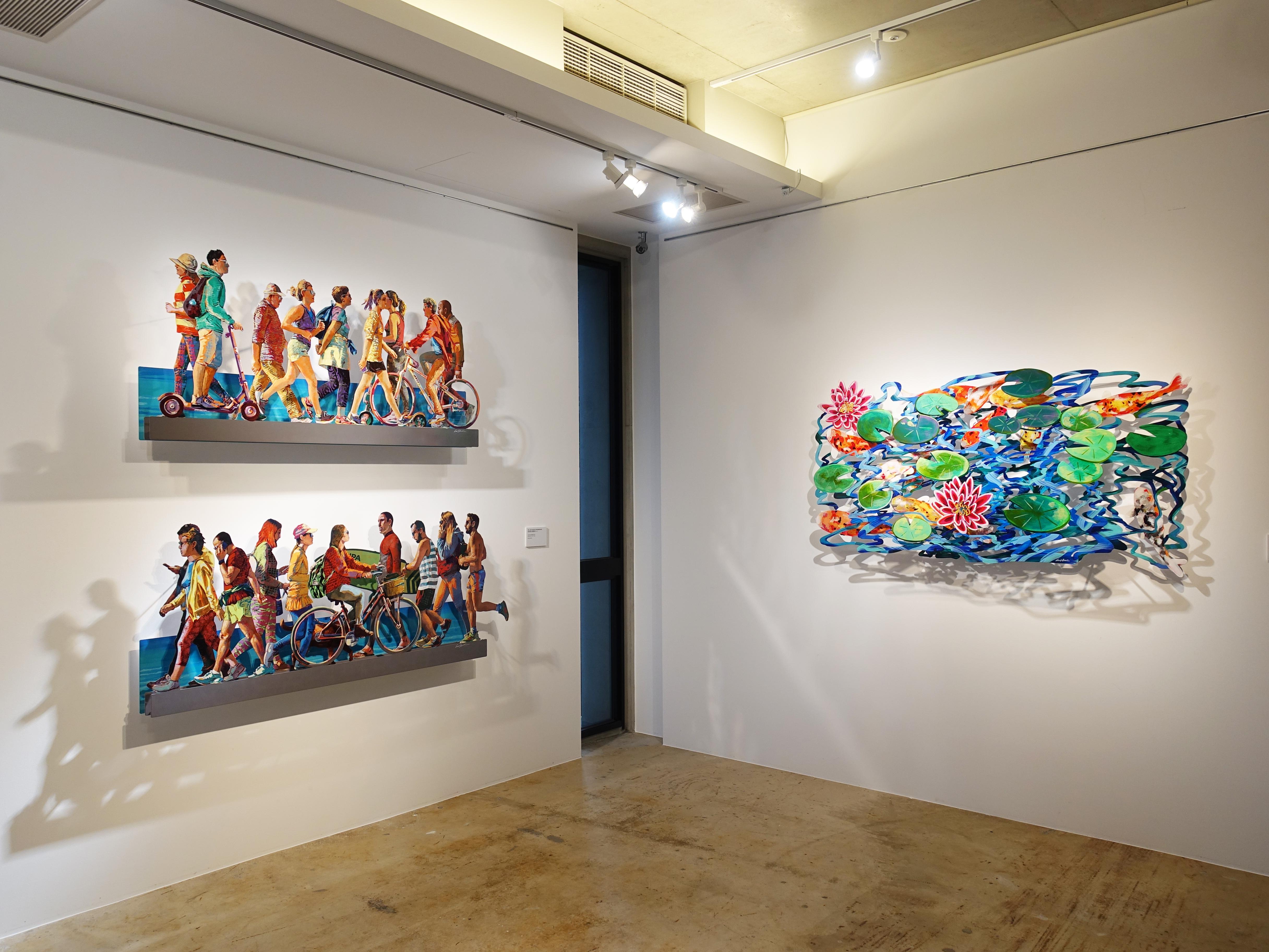 正藝美學展出以色列藝術家David Gerstein在台灣首次個展《豐采・悅動》。