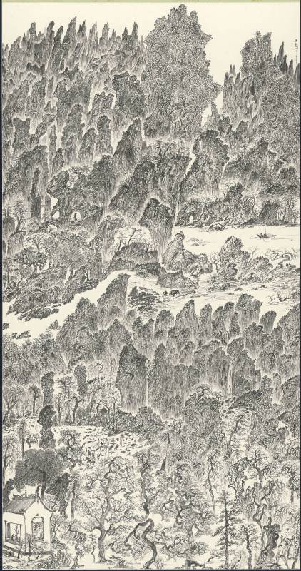 于彭 辛巳年山水聯作-2 2001 水墨、紙本 179.1×94.1cm