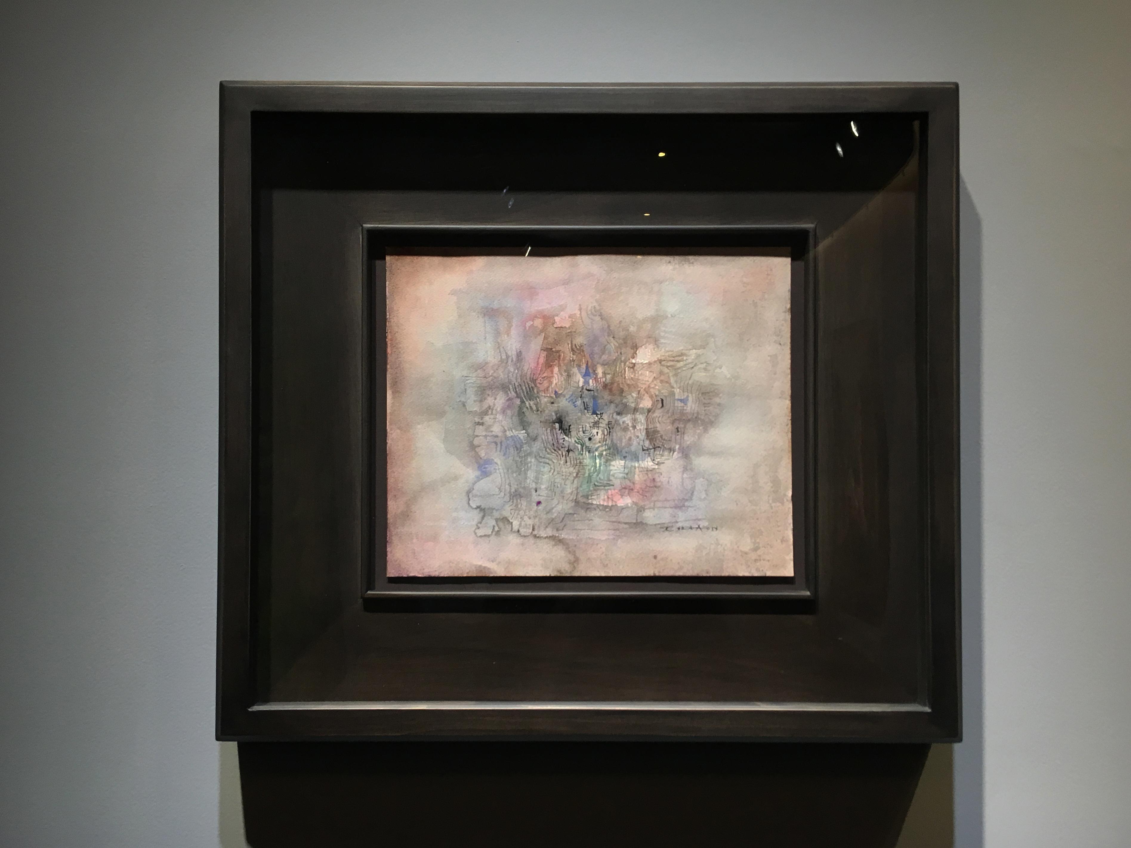 陸府典藏展『後來』展出趙無極繪畫作品。