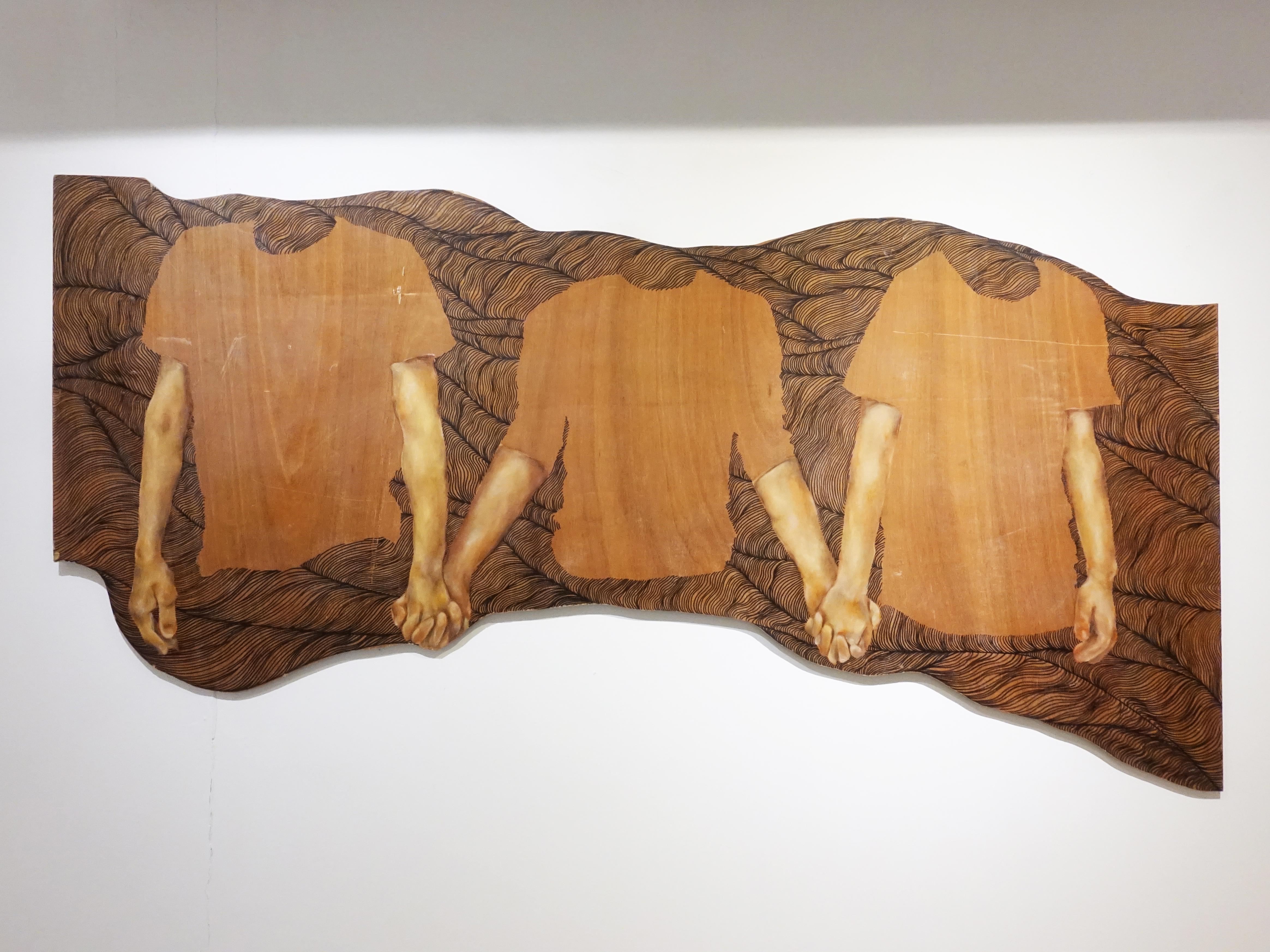 連師屏,《我們就是我們所想的》,木材、油彩,78 x 130 cm,2017。