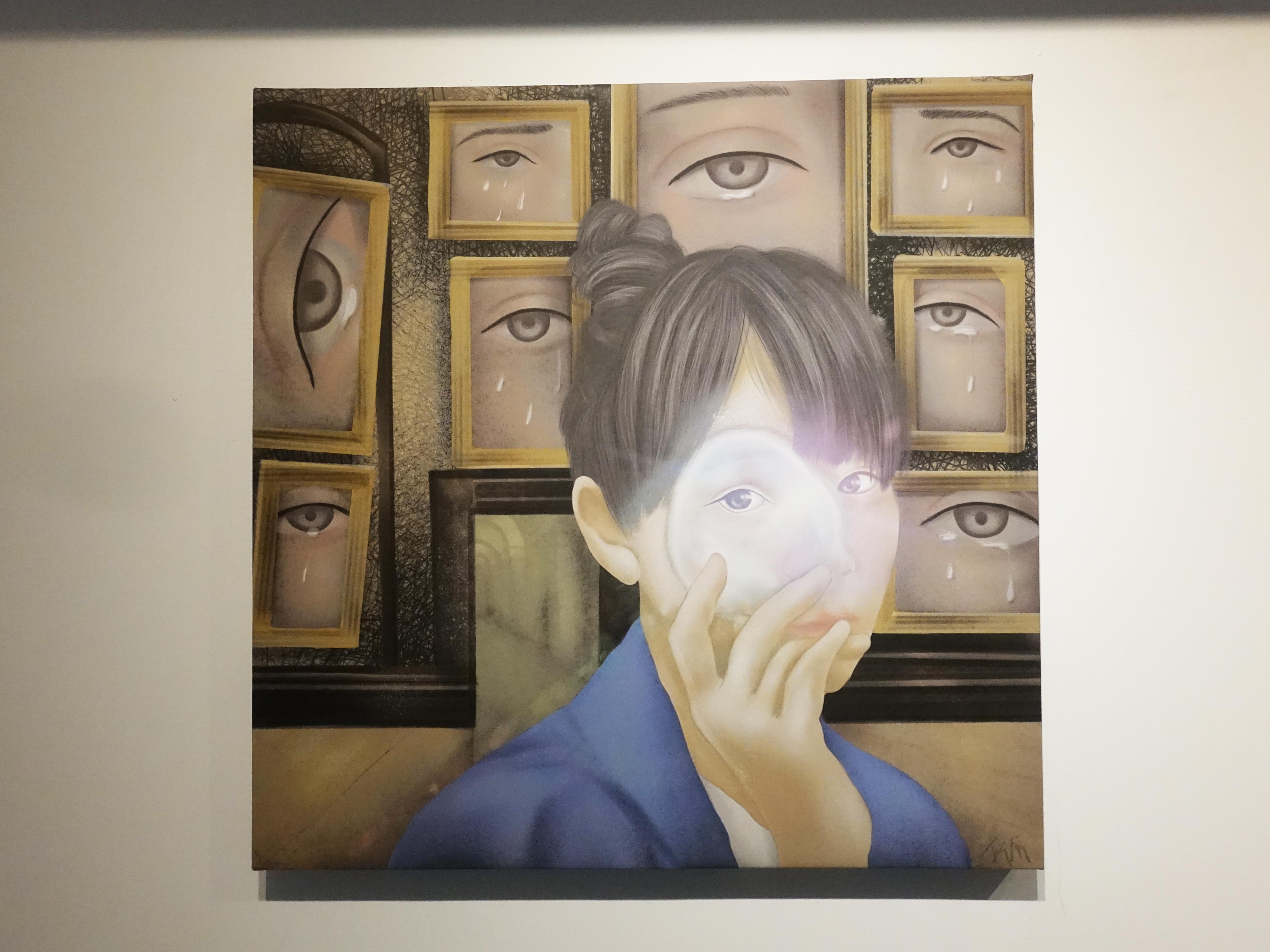 連師屏,《不存在的悲傷》,數位繪圖,50 x 50 cm 1/10,2019。