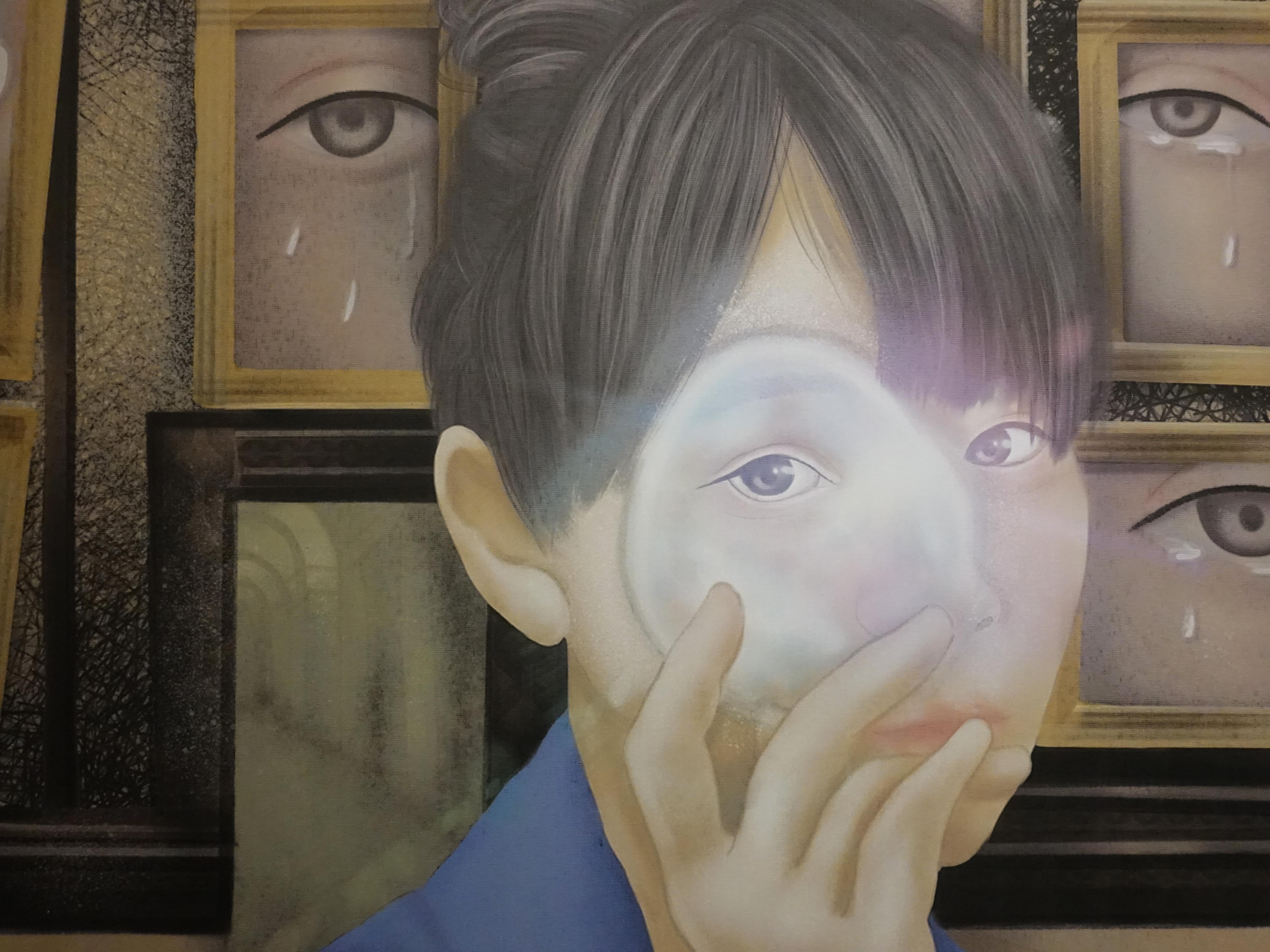連師屏,《不存在的悲傷》細節,數位繪圖,50 x 50 cm 1/10,2019。
