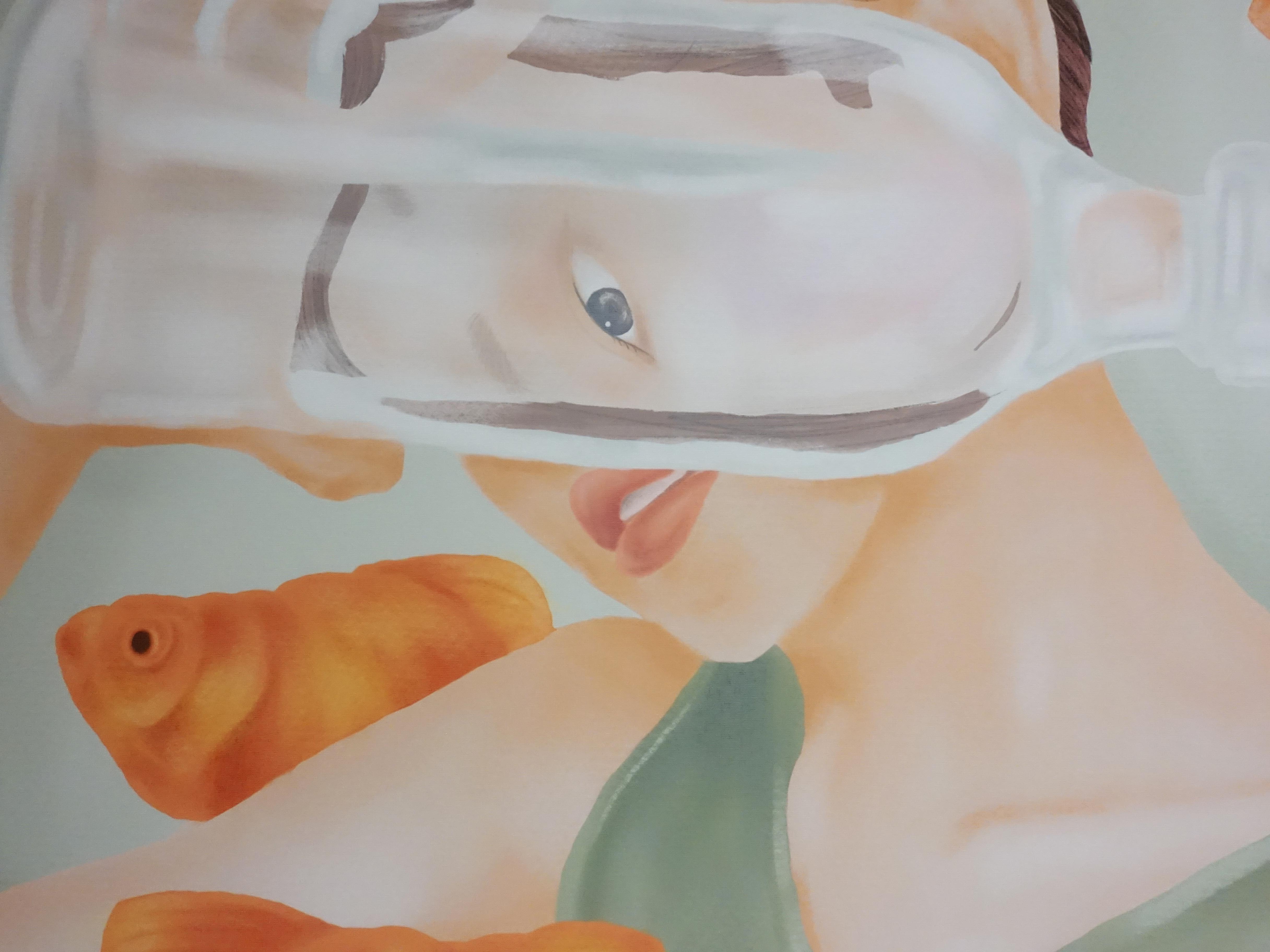 連師屏,《自由是》細節,數位繪圖,50 x 50 cm 1/10,2019。