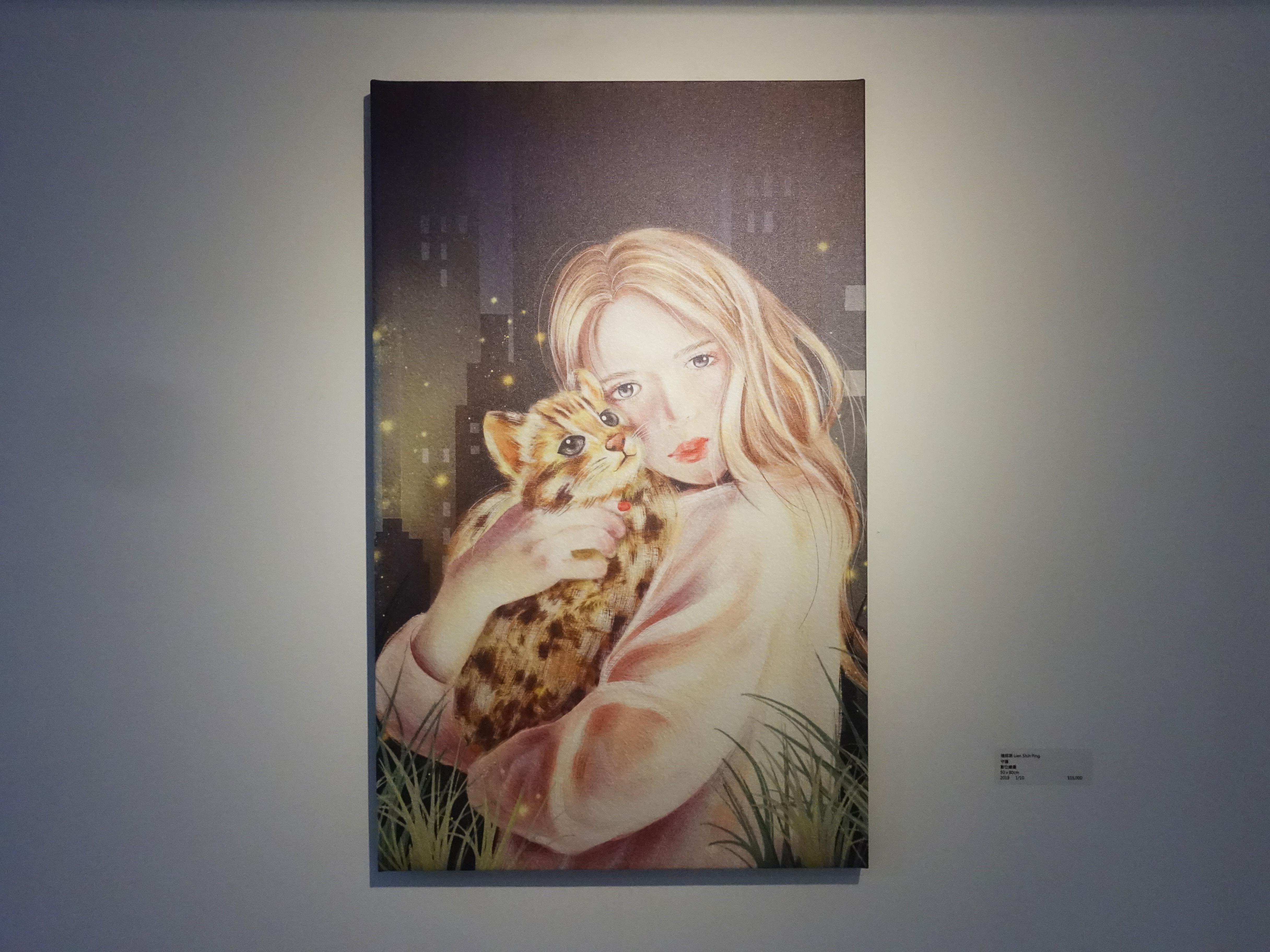 連師屏,《守護》,數位繪圖,50 x 80 cm 1/10,2019。