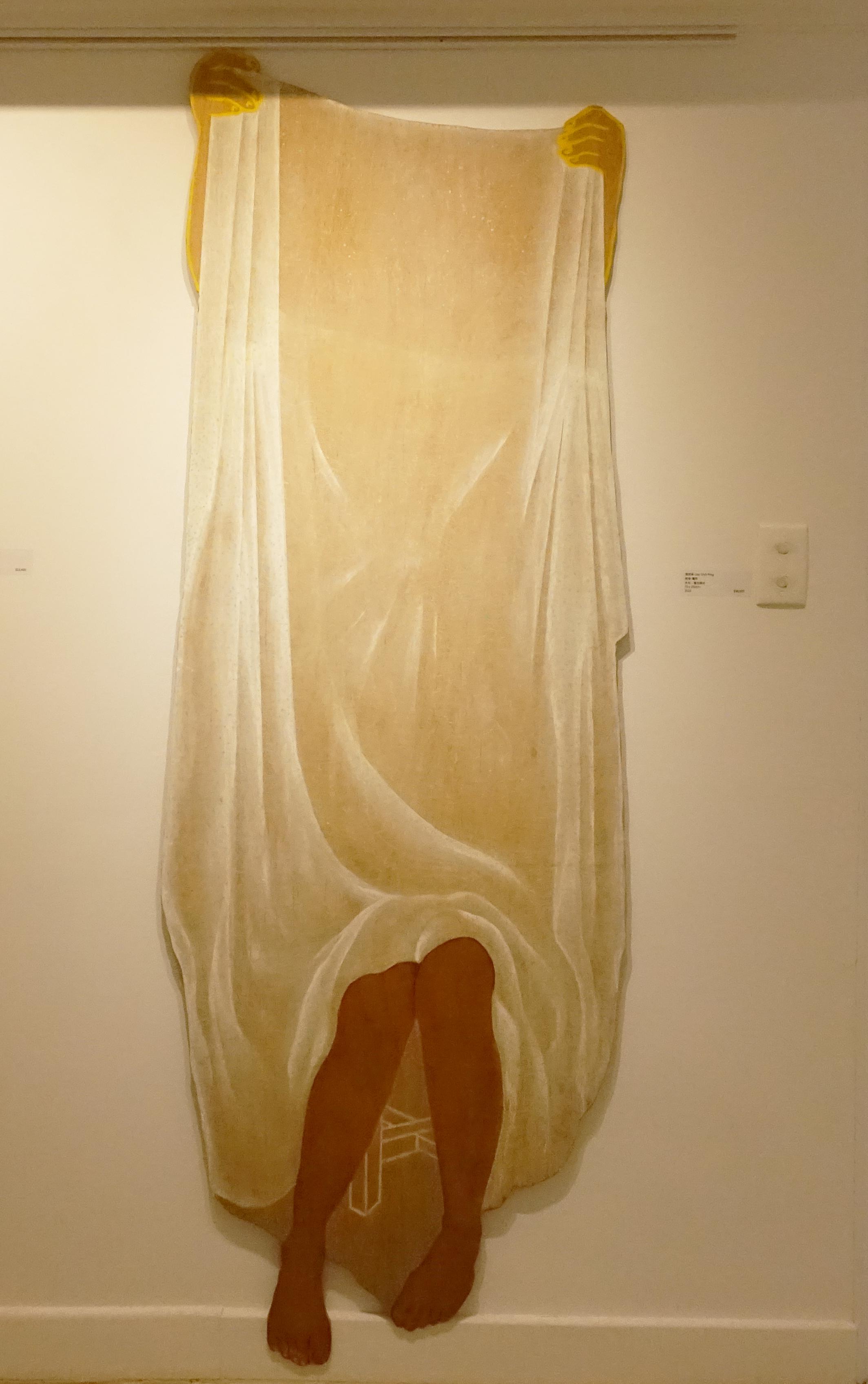 連師屏,《表掩-魔術》,木材、複合媒材,70 x 200 cm,2016。