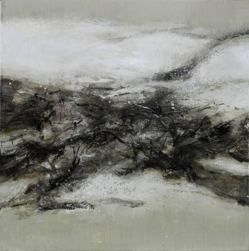 周宸/白色寫景  Landscape Written in White 65×65 cm  21S‧2014 油畫 Oil on canvas