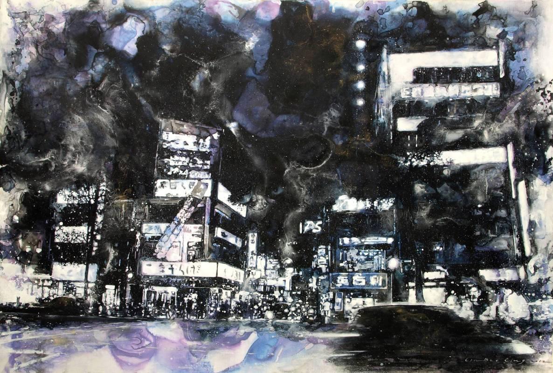 林葆靈/台北夜曲 II TPE Nocturne II‧53 x 78 cm‧2012‧複合媒材 Mixed Media