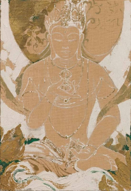 金剛薩多 Vajrasattva, 曾亞琪 TSENG Ya-Chi, 2019, acrylic on canvas 壓克力彩、畫布, 116 x 80 cm