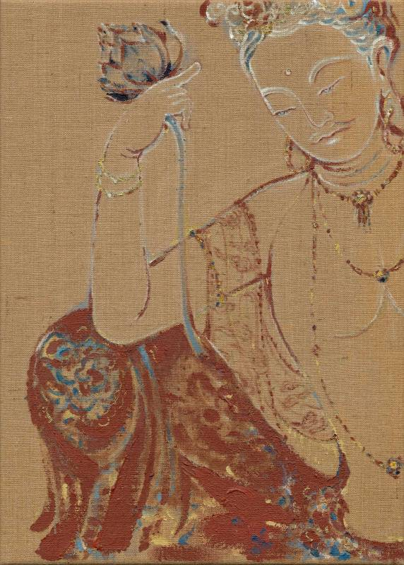 觀音 1 (Avalokitesvara 1), 曾亞琪 TSENG Ya-Chi, 2019, acrylic on canvas 壓克力彩、畫布, 91 x 65 cm