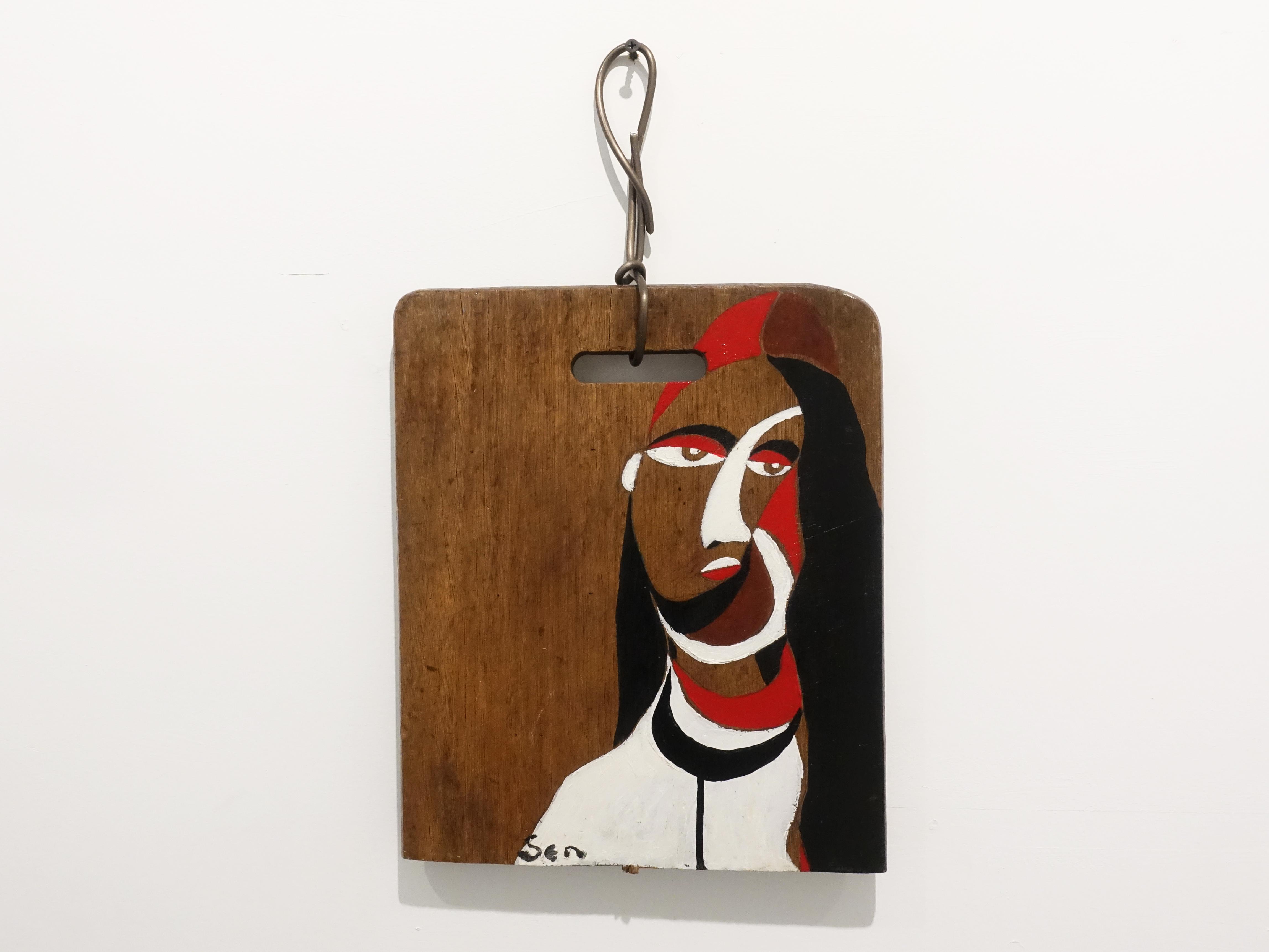 楊樹森,《約瑟芬》,37 x 53.2 cm,漂木油彩,2017。