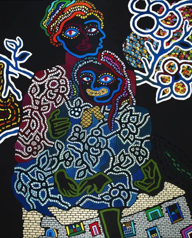 神木佐知子 Sachiko KAMIKI, 己之影 My shadow, 2019, 壓克力畫布 Acrylic on canvas, 162 x 130 cm