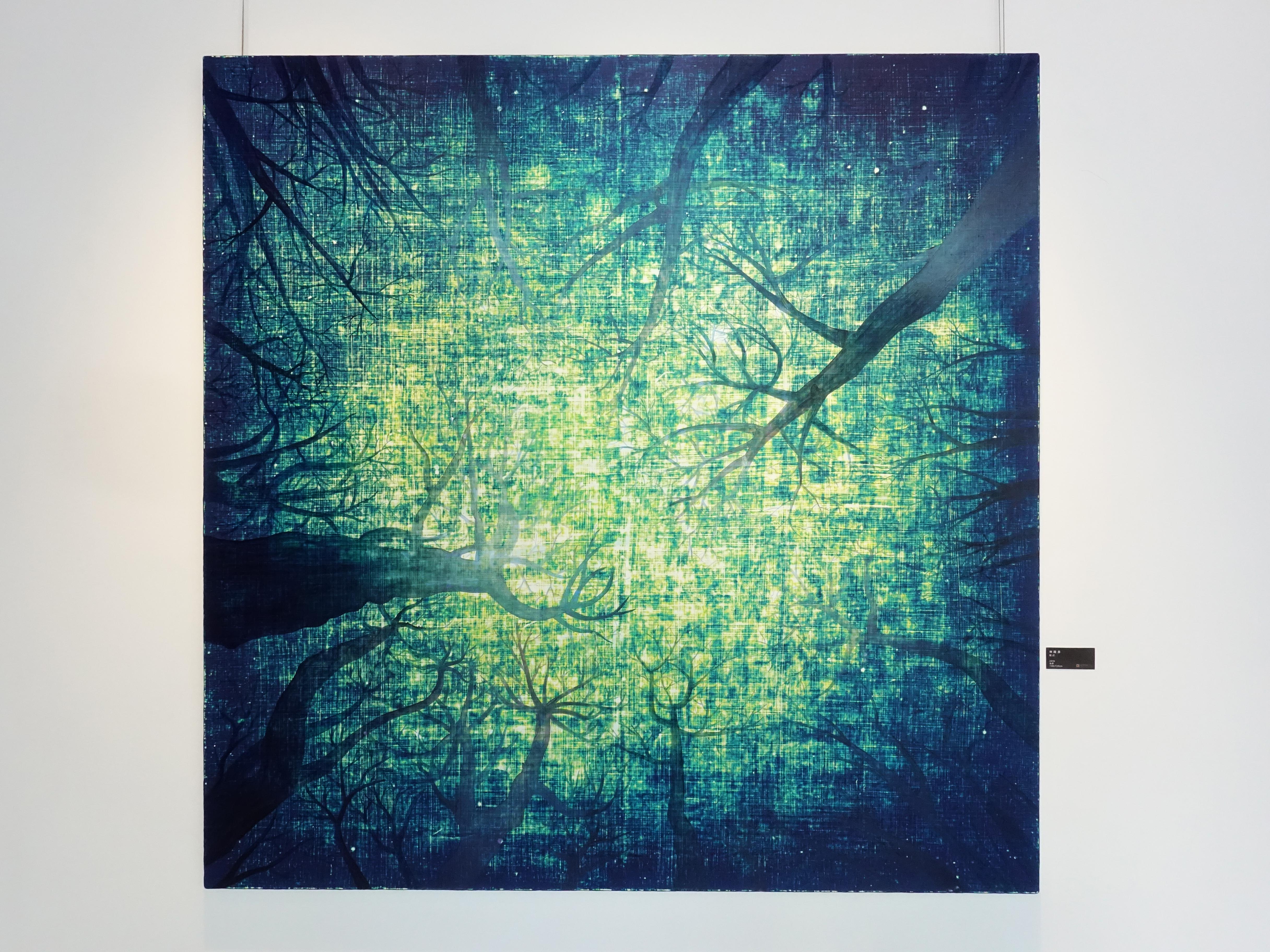 林煌彥,《臆幻》,150 x 150 cm,油畫,2016。