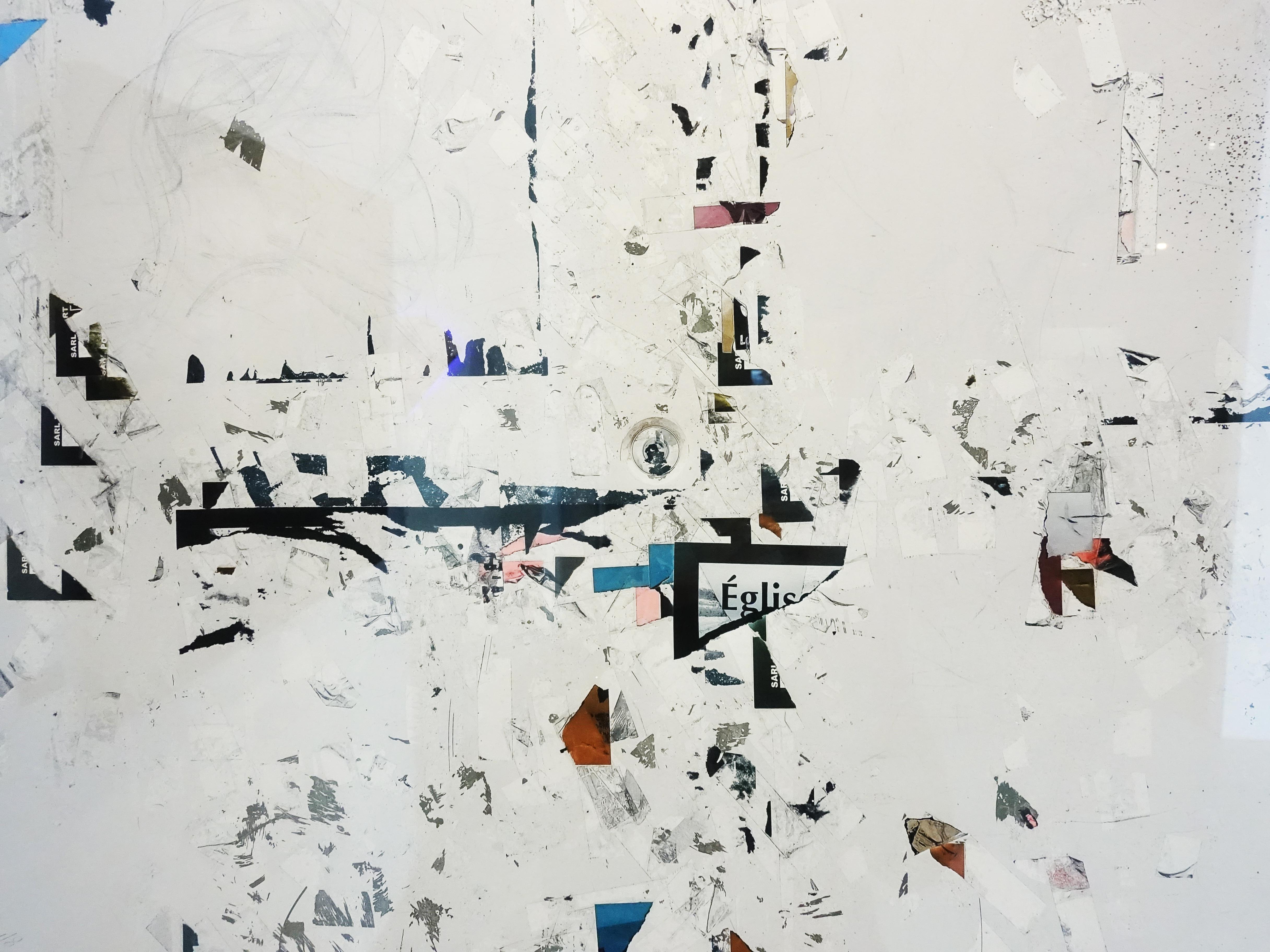 小山俊孝,《後當代表現主義#28_W》細節,24 x 17 in,攝影、無酸藝術紙,2017。