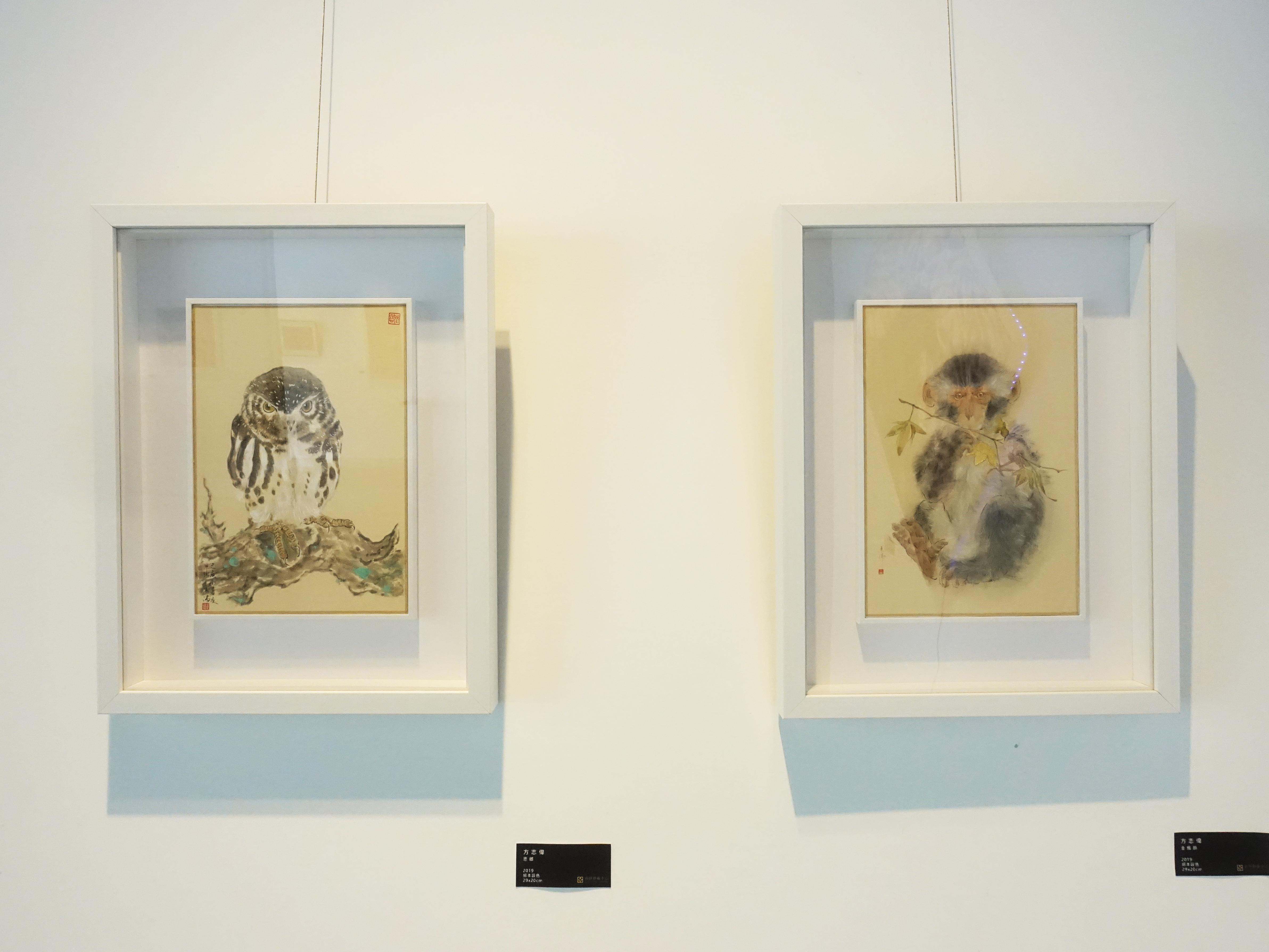 藝術家方志偉展出水墨系列作品。