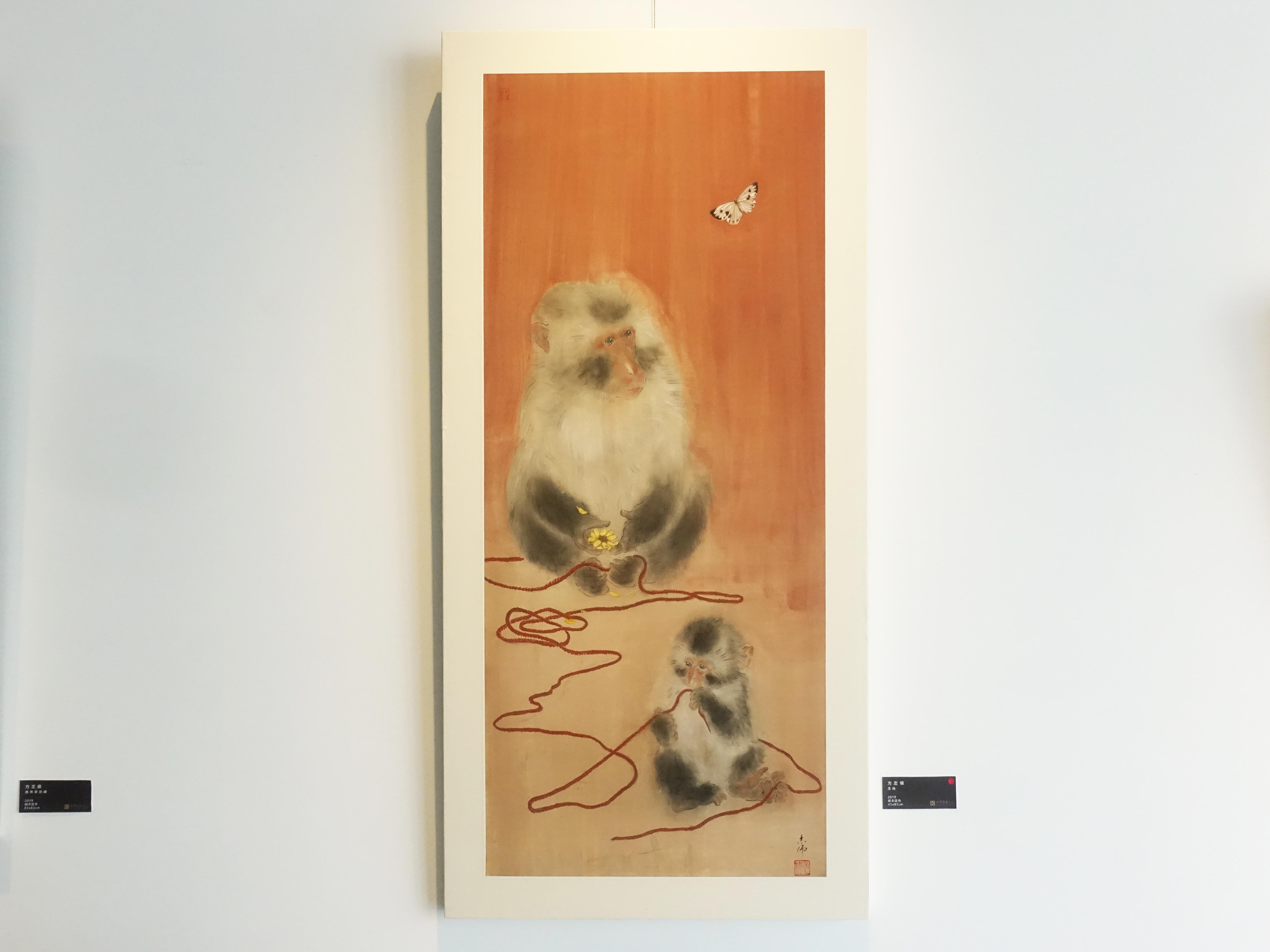 方志偉,《念絲》,41 x 97 cm,絹本設色,2019。