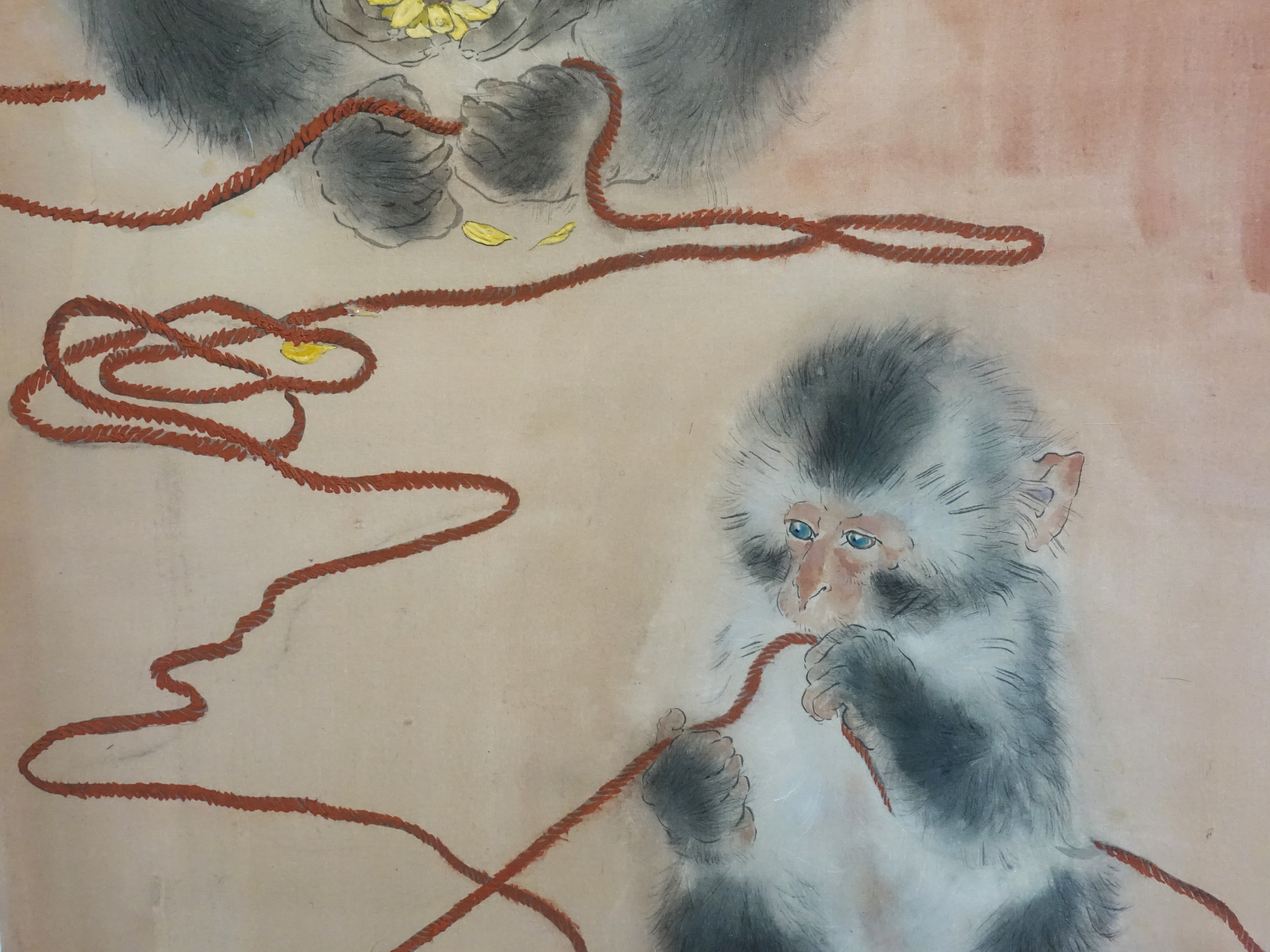 方志偉,《念絲》細節,41 x 97 cm,絹本設色,2019。