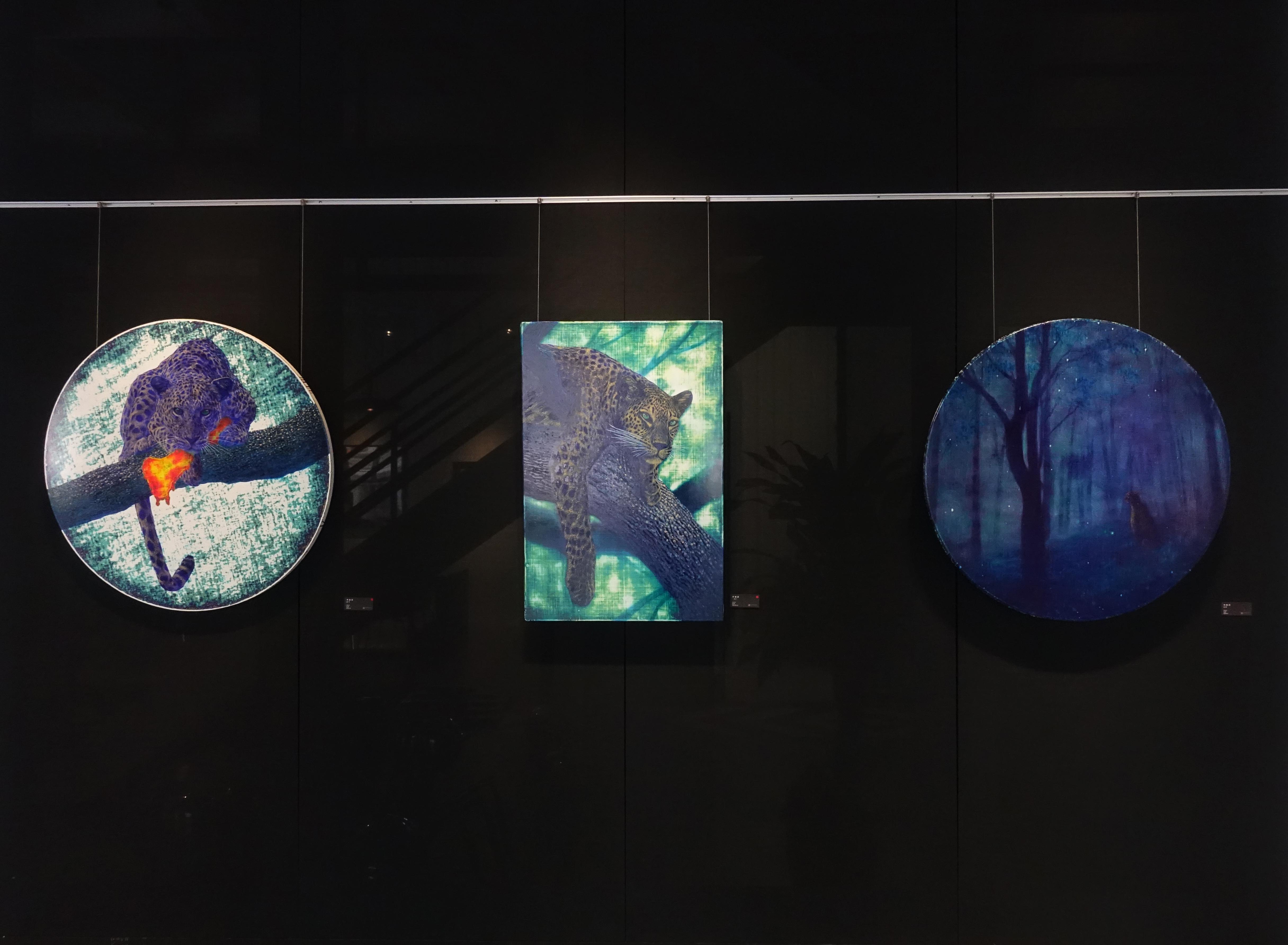 藝術家林煌彥於藝星藝術中心展出油畫系列作品。