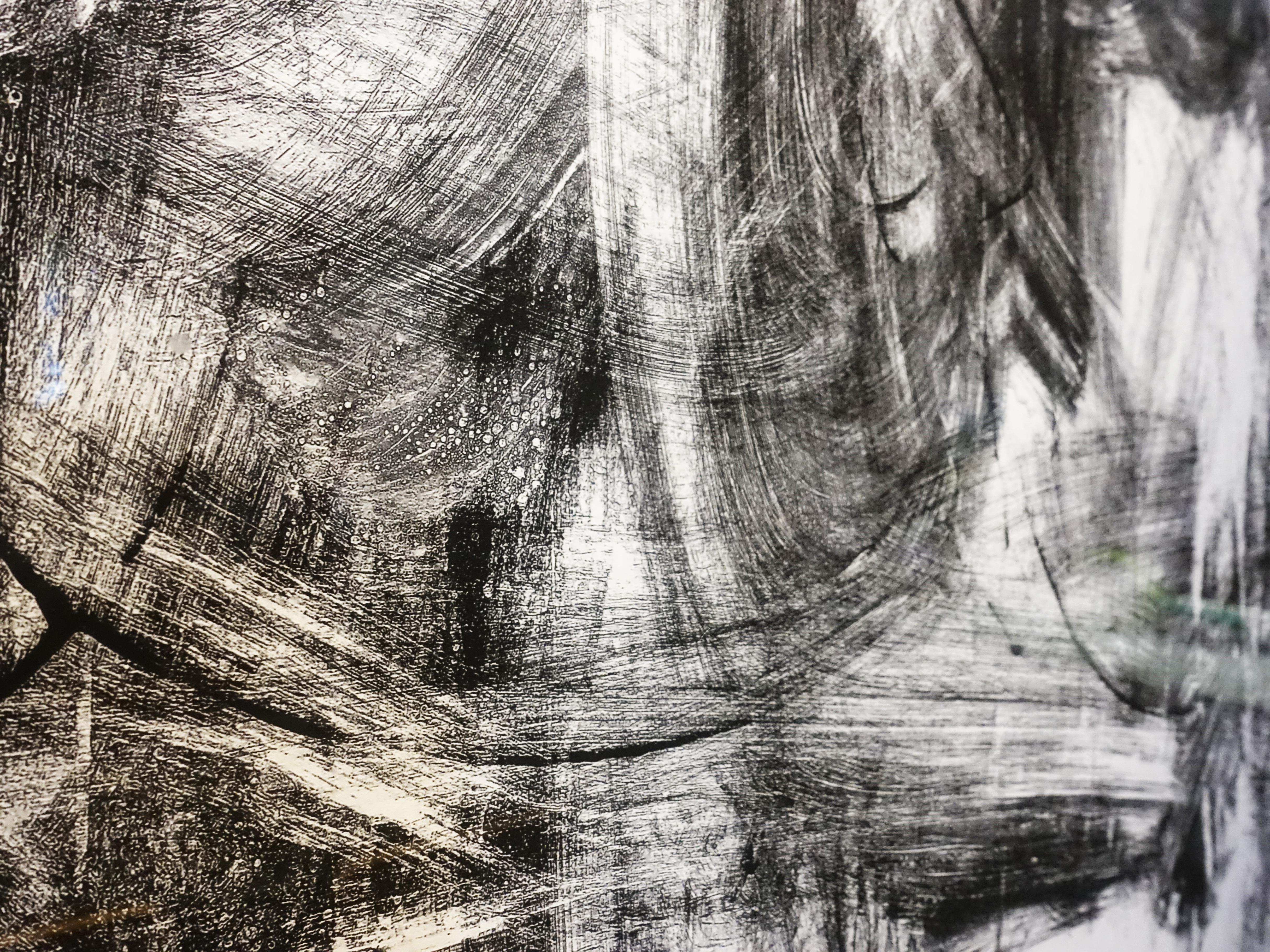 小山俊孝,《後當代表現主義#59_b》細節,30 x 30 in,攝影、無酸藝術紙,2019。