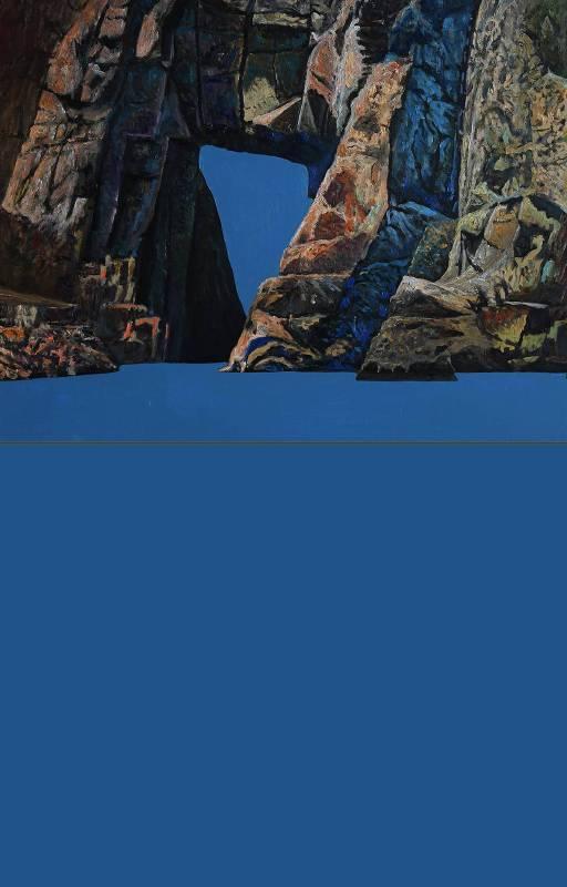 曹松清  岩光4   2019  182×116.5cm  油彩、畫布