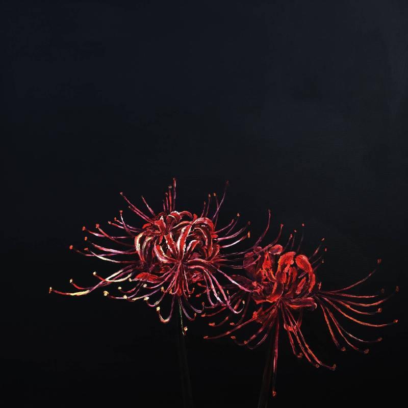 曹松清  螃蟹花  2019  110x110cm   油彩、壓克力、畫布