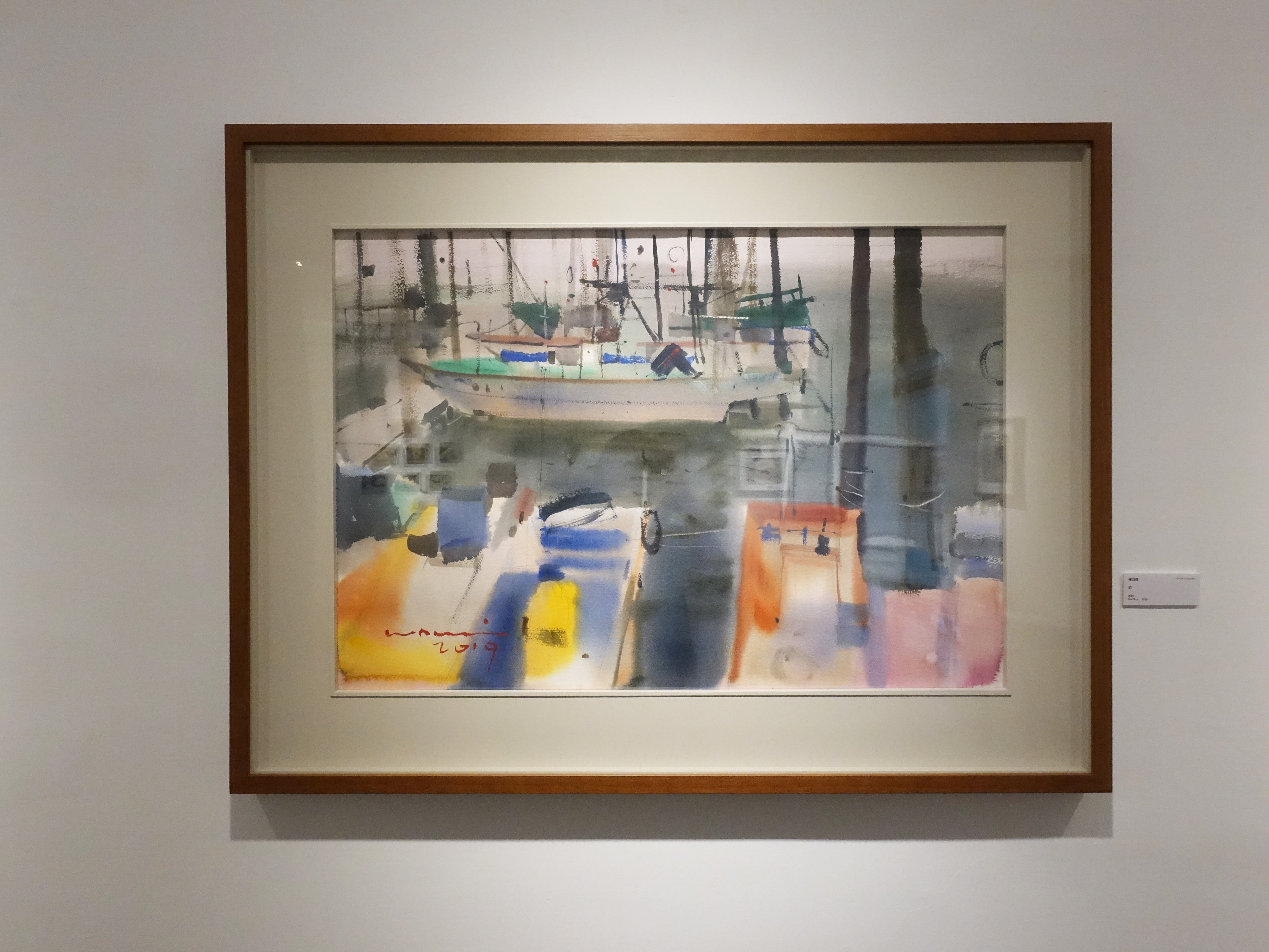 楊治瑋,《泊》,56 x 78 cm,水彩,2018。
