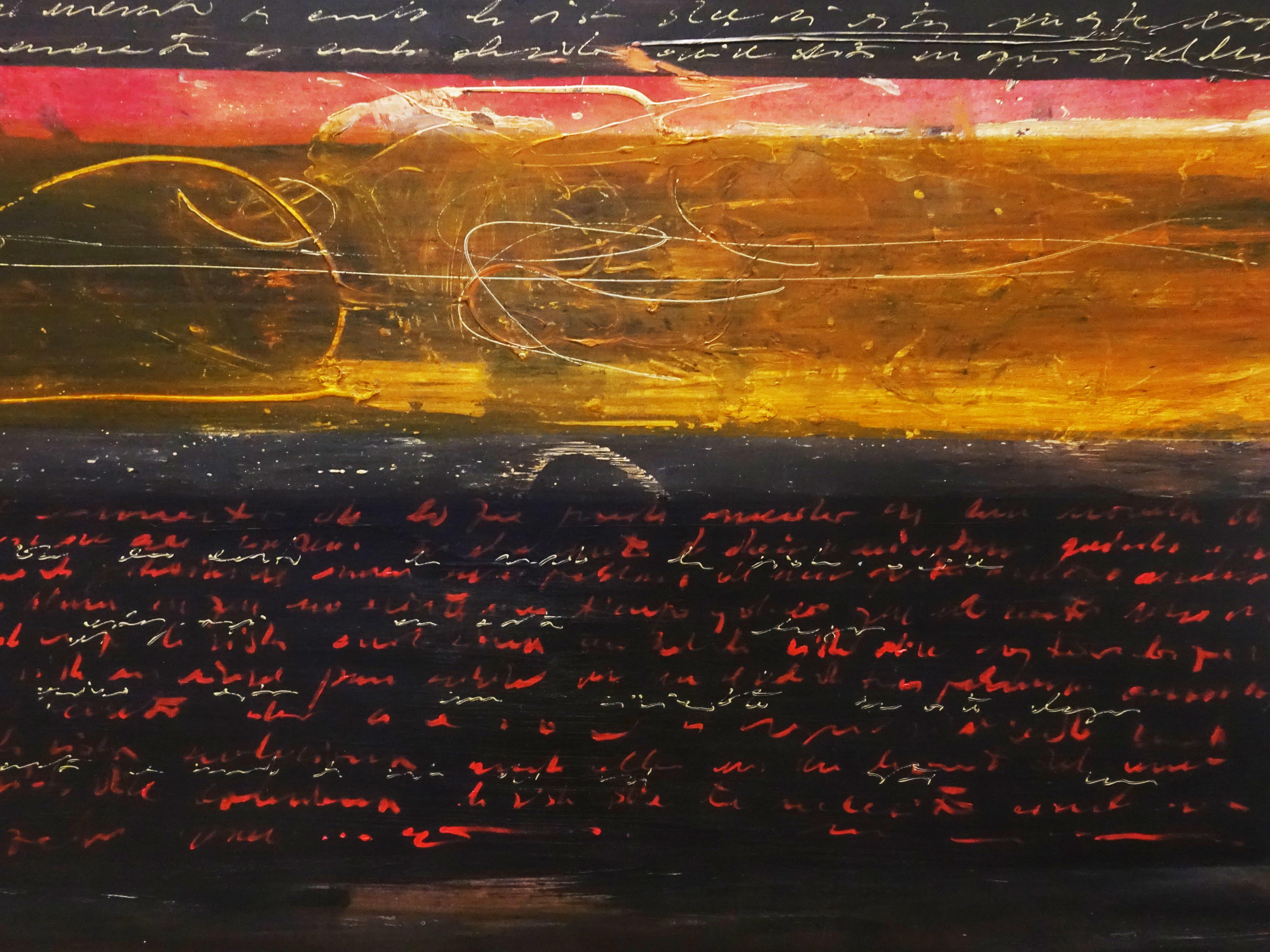 Víctor Ramírez,《Memoria del Desierto》細節,150x150 cm,Acrylic on Canvas,2008-2010。