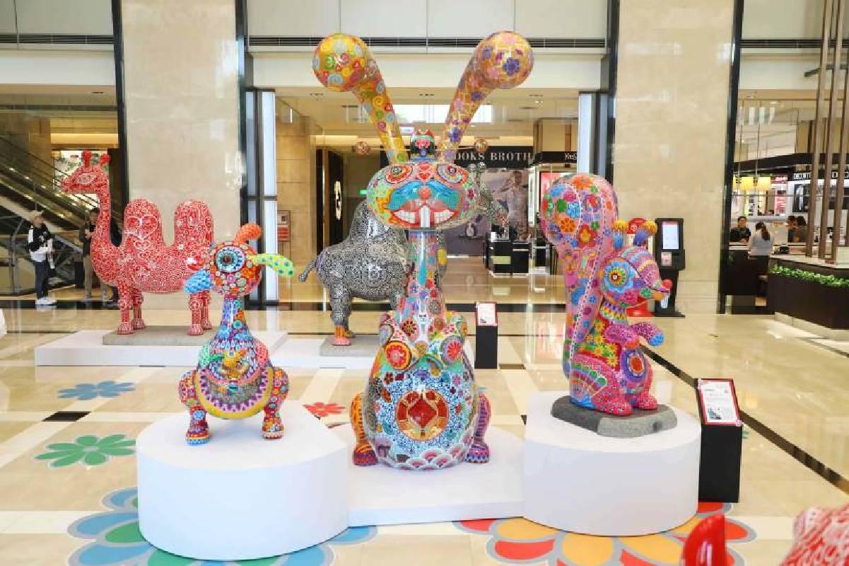 新光三越台南新天地展出的「鼠兔好友」(照片來源:新光三越)