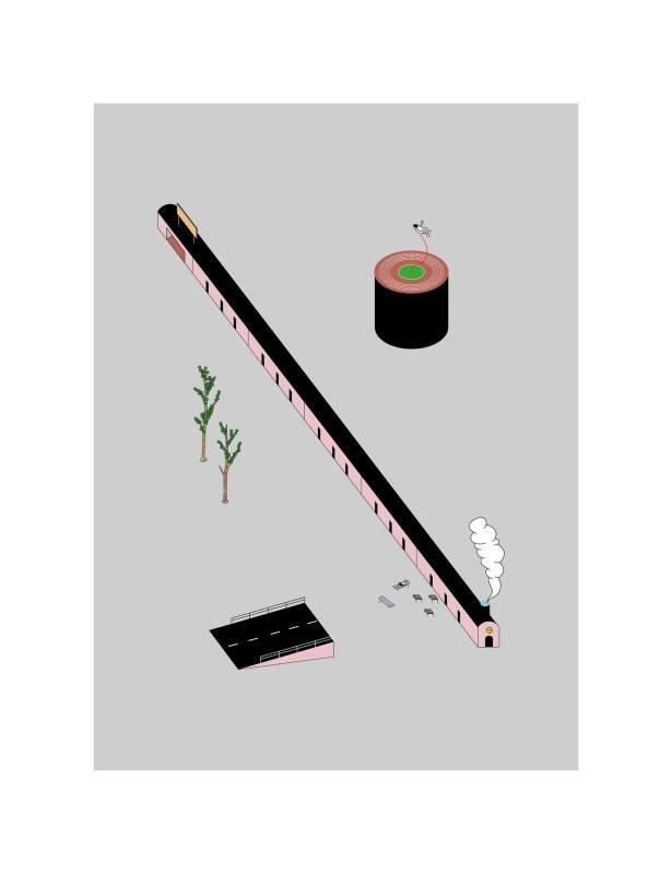黃照達, 高鐵樂園 , 藝術微噴印畫紙本, 50.5 x 65.5 cm, 2019