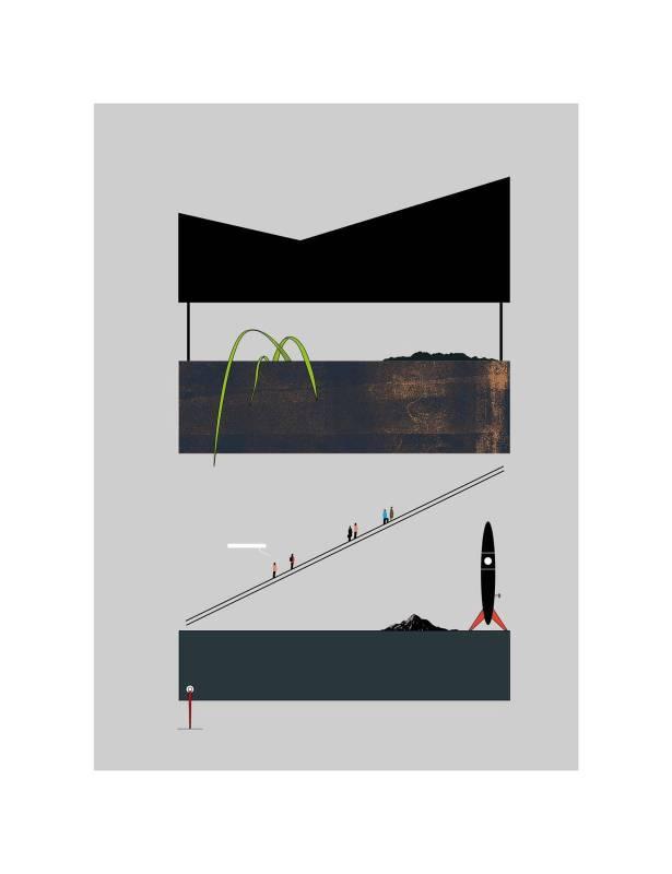 黃照達, 太空商場 , 藝術微噴印畫紙本, 50.5 x 65.7 cm, 2019
