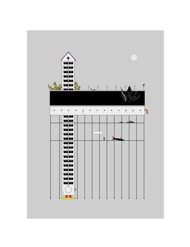 黃照達, 登陸, 藝術微噴印畫紙本, 50.5 x 65.8 cm, 2019