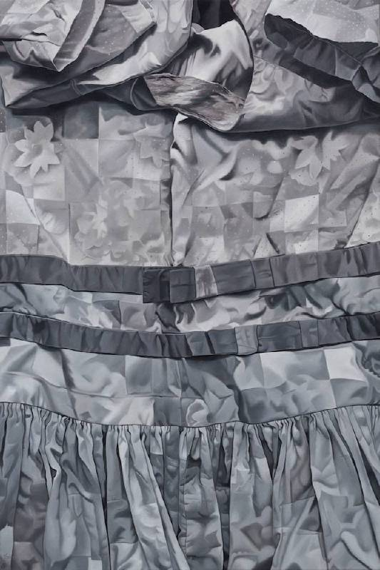瑪莉娜·克魯斯 《不同的灰》 2019 油彩、畫布 182.88x121.92cm