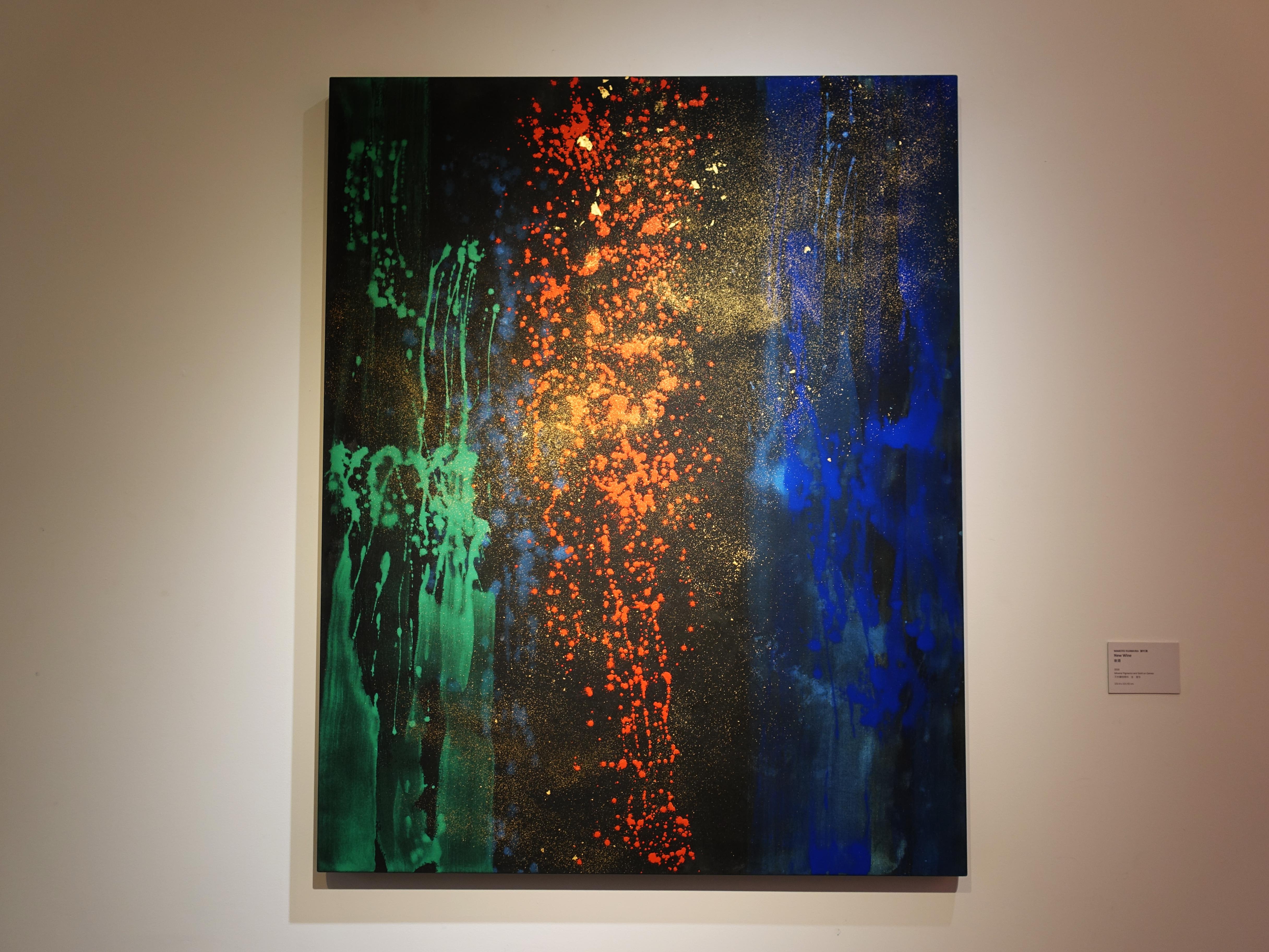 Makoto Fujimura,《New Wine》,152.4 x 121.92 cm,天然礦物顏料、金、畫布,2018。