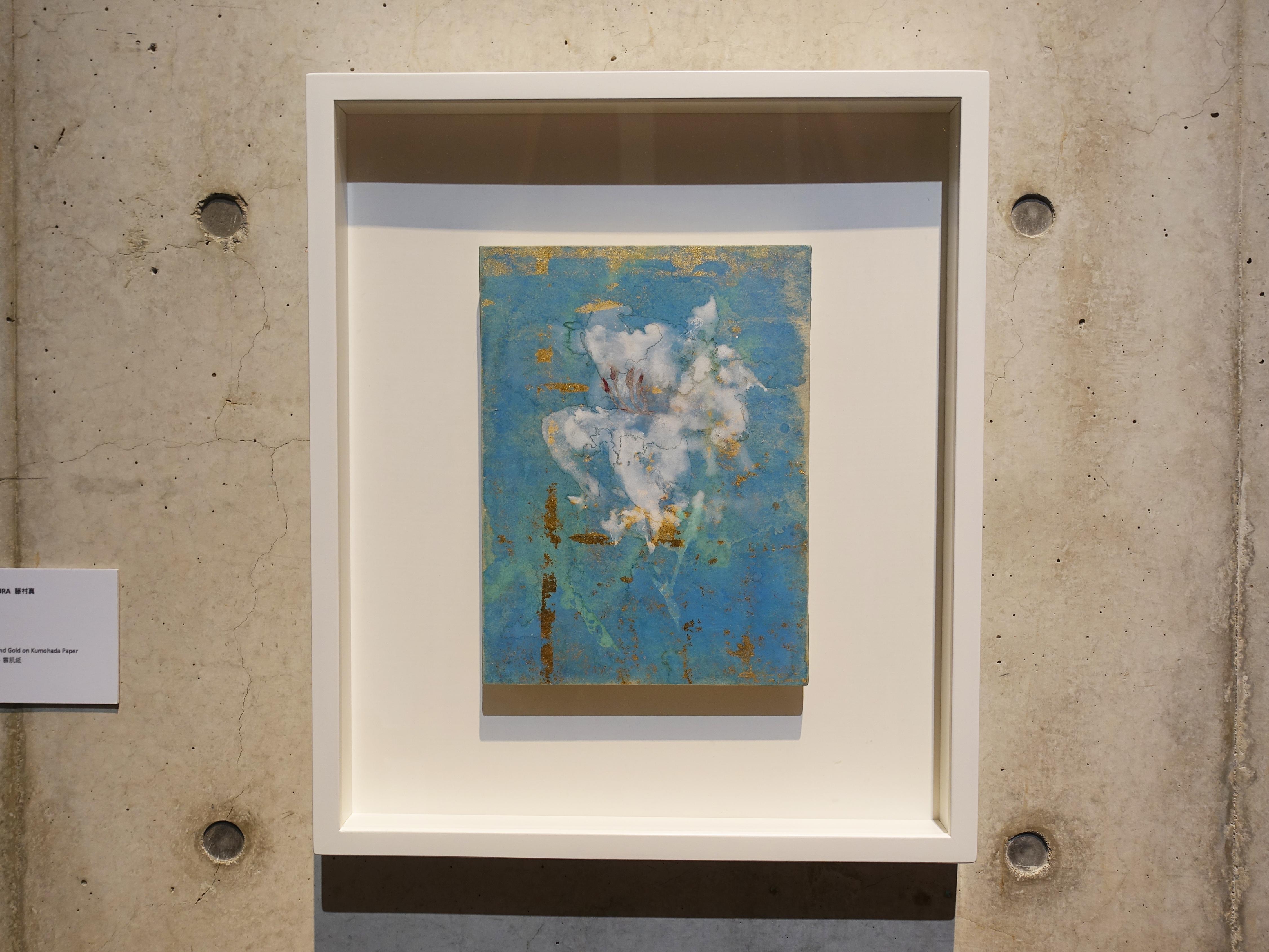 Makoto Fujimura,《Consider I 》,30 x 22.3 cm,天然礦物顏料、金、雲肌紙,2017。