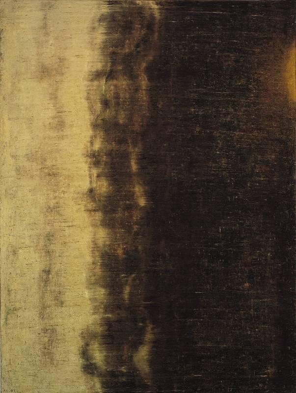 江賢二,百年廟 97-10/圖片由誠品畫廊提供