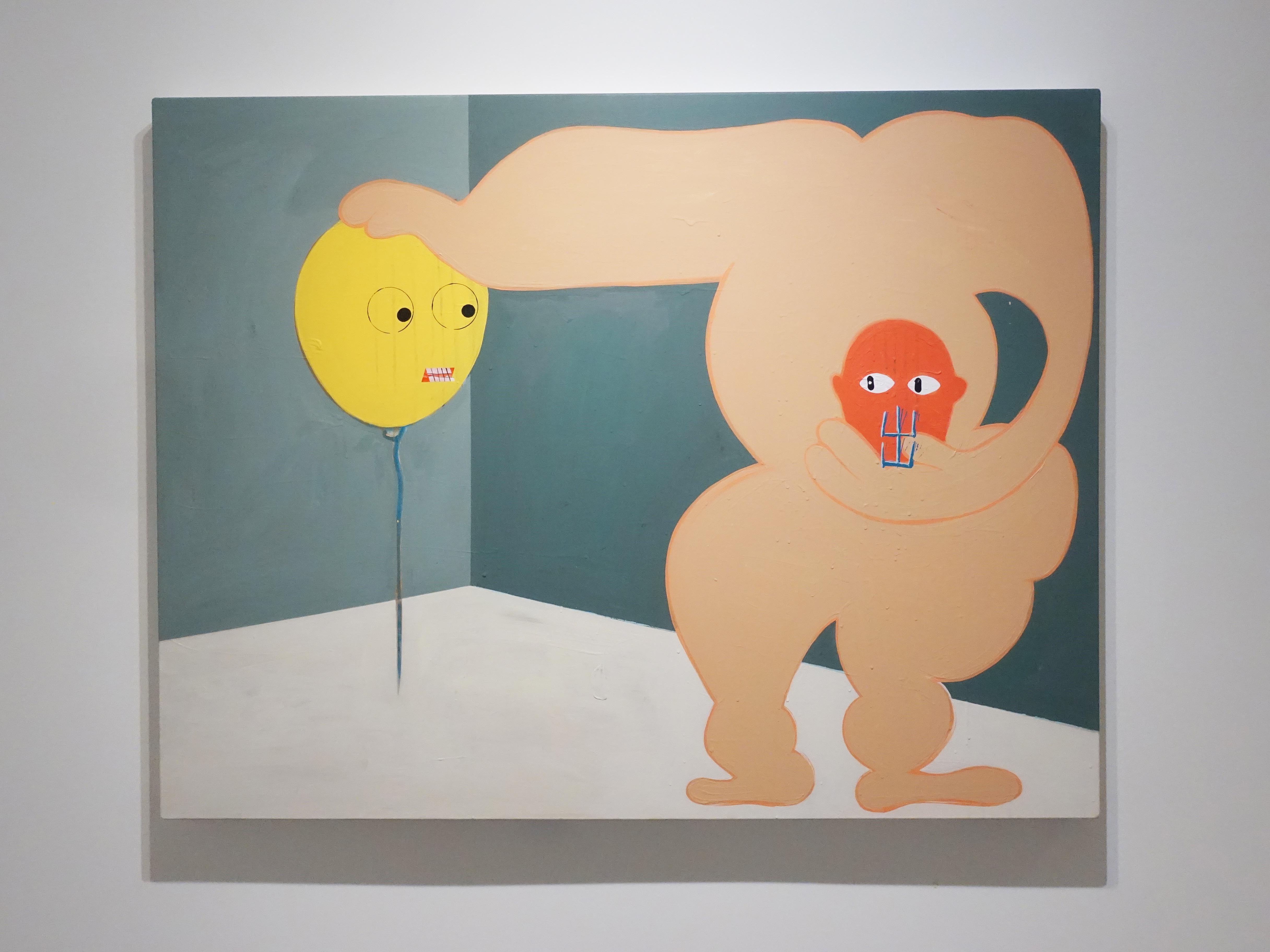 蕭筑方,《不不要過來》,壓克力顏料、畫布,2019。