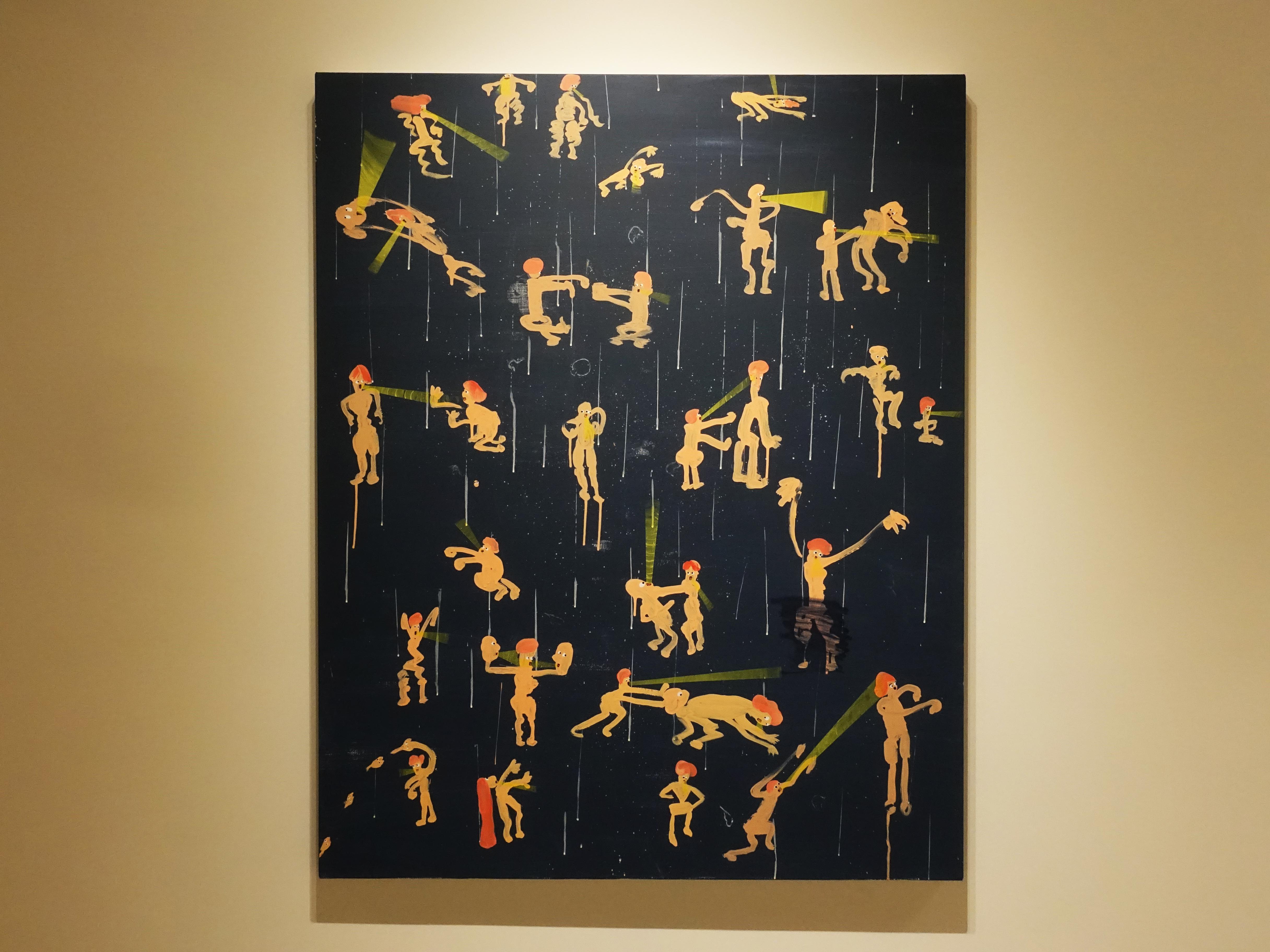 蕭筑方,《你如果真的在乎我》,162 x 130cm,壓克力顏料、畫布,2019。