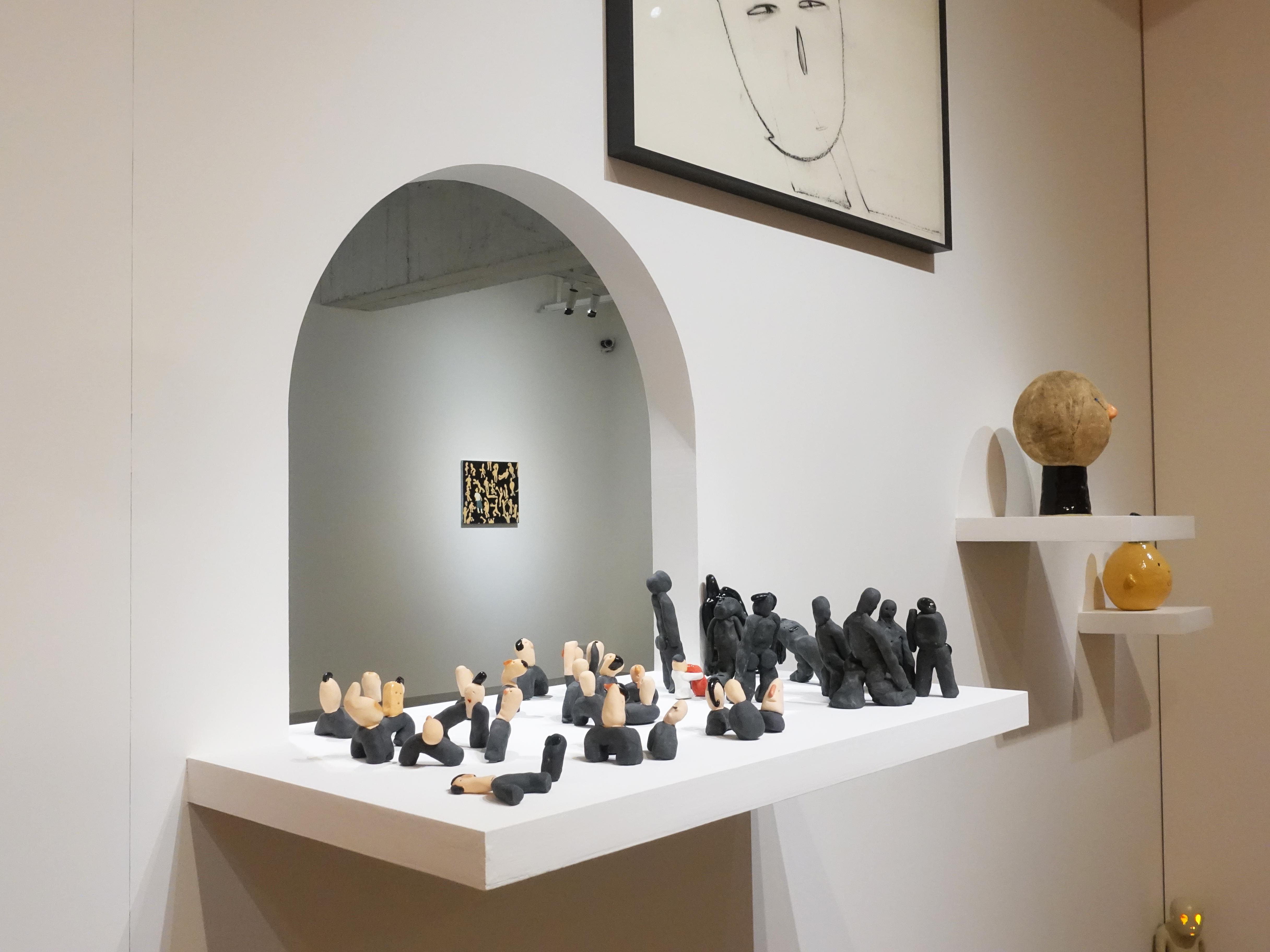 藝術家蕭筑方創作個展《很危險,請大家不要靠近》展出其陶藝作品。